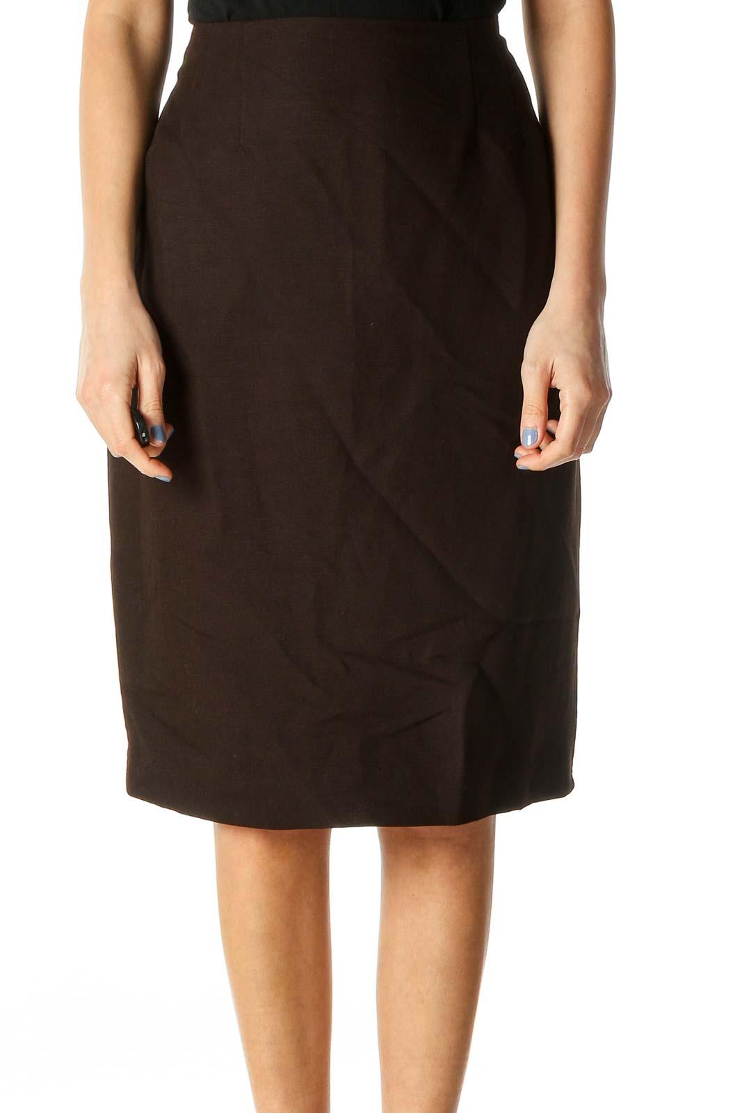 Black Pencil Skirt Front