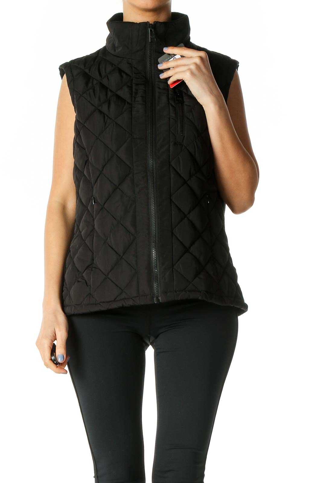 Black Puffer Jacket Front