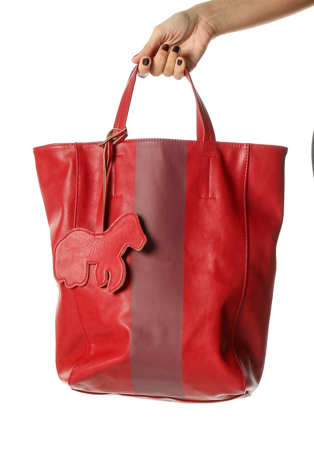 Red Tote Bag Front