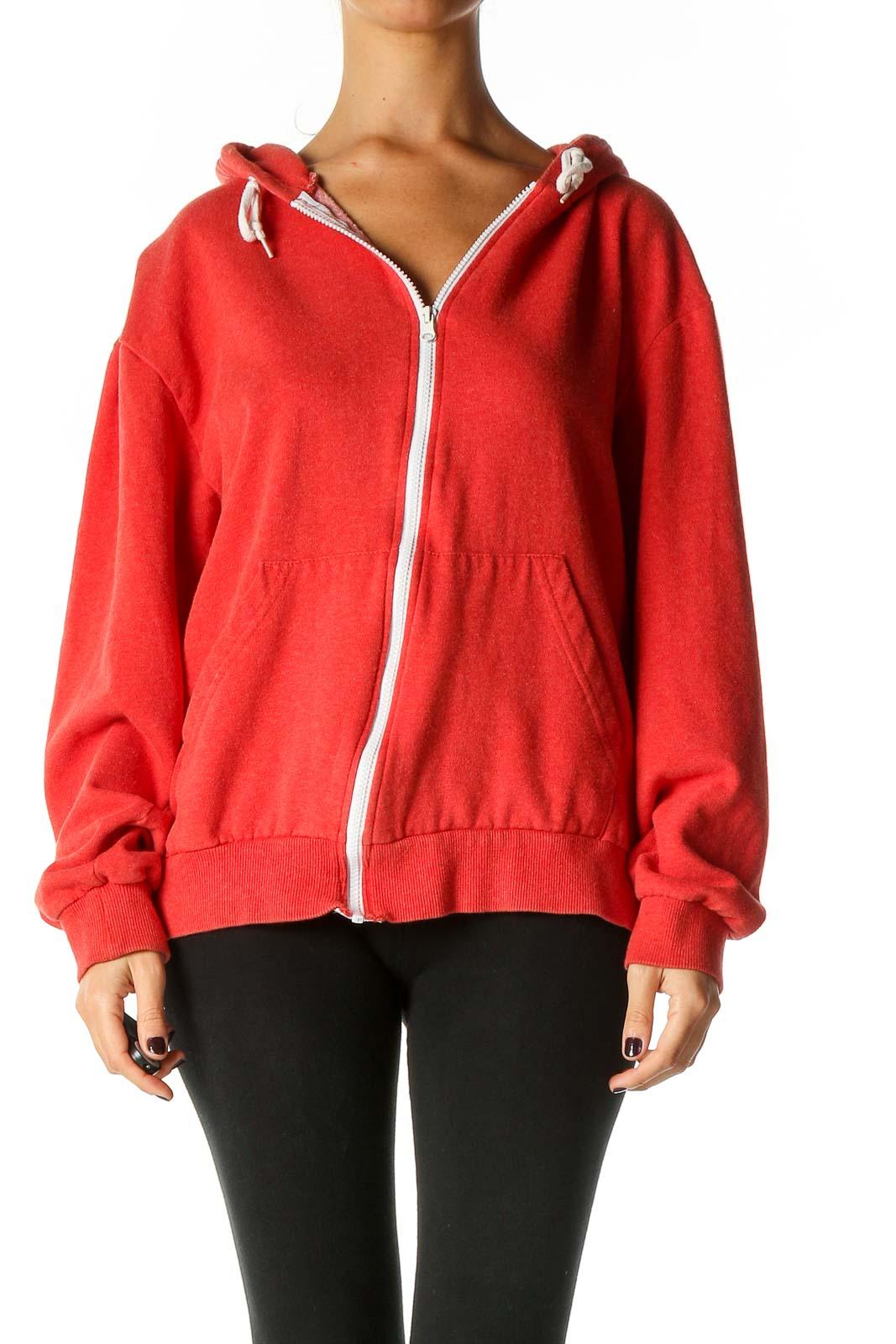 Red Windbreaker Jacket Front