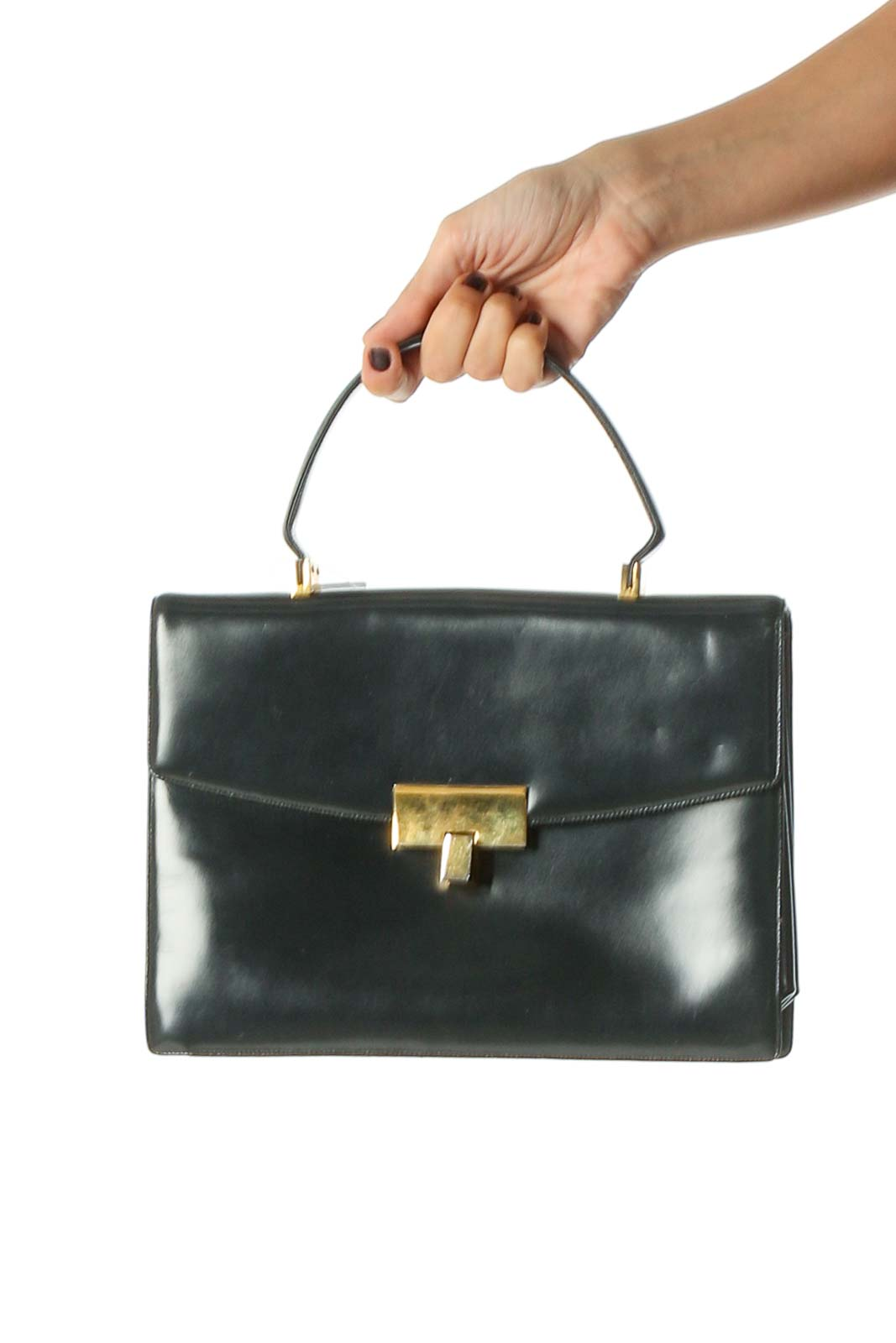 Blue Handbag Front