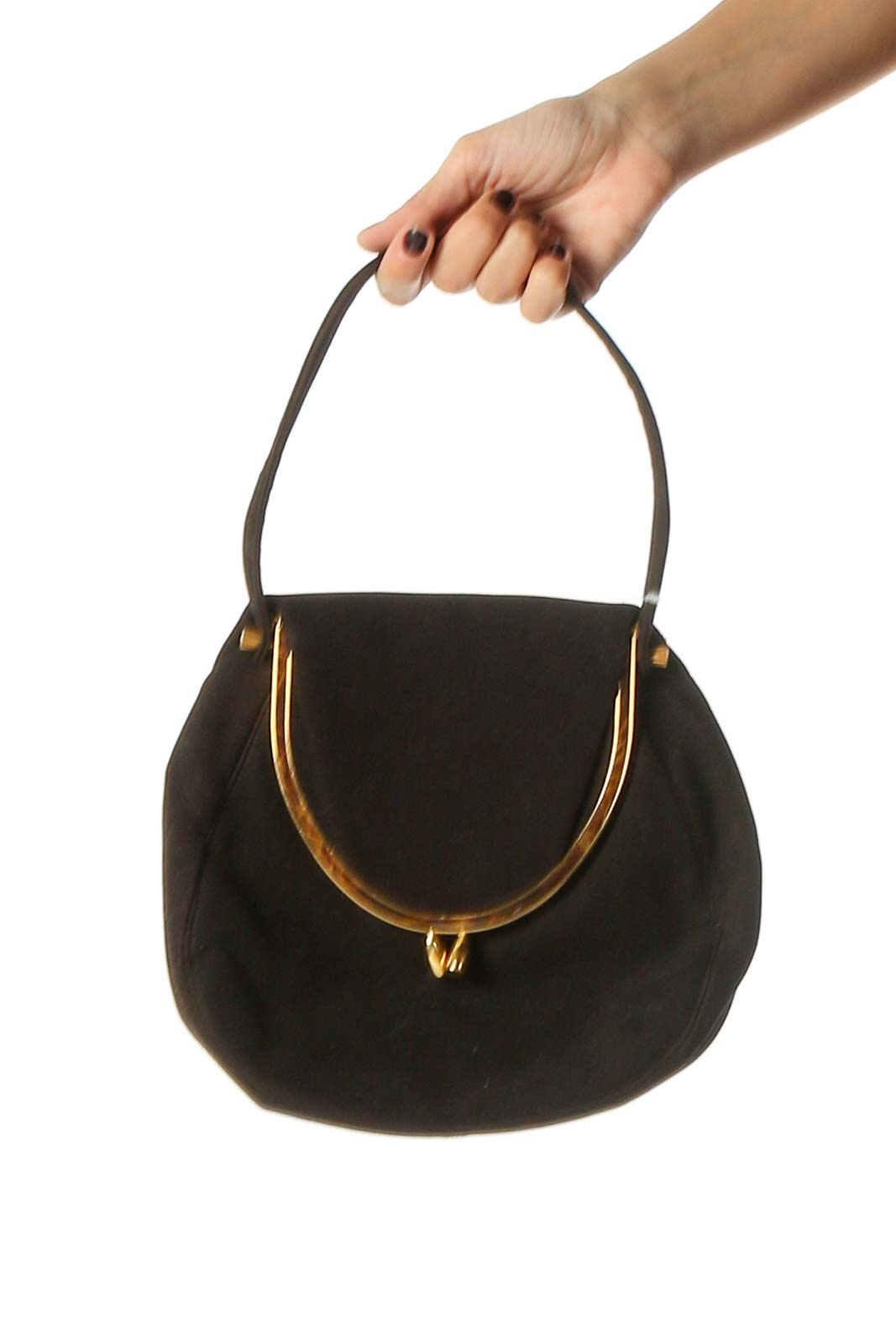 Brown Clutch Bag Front
