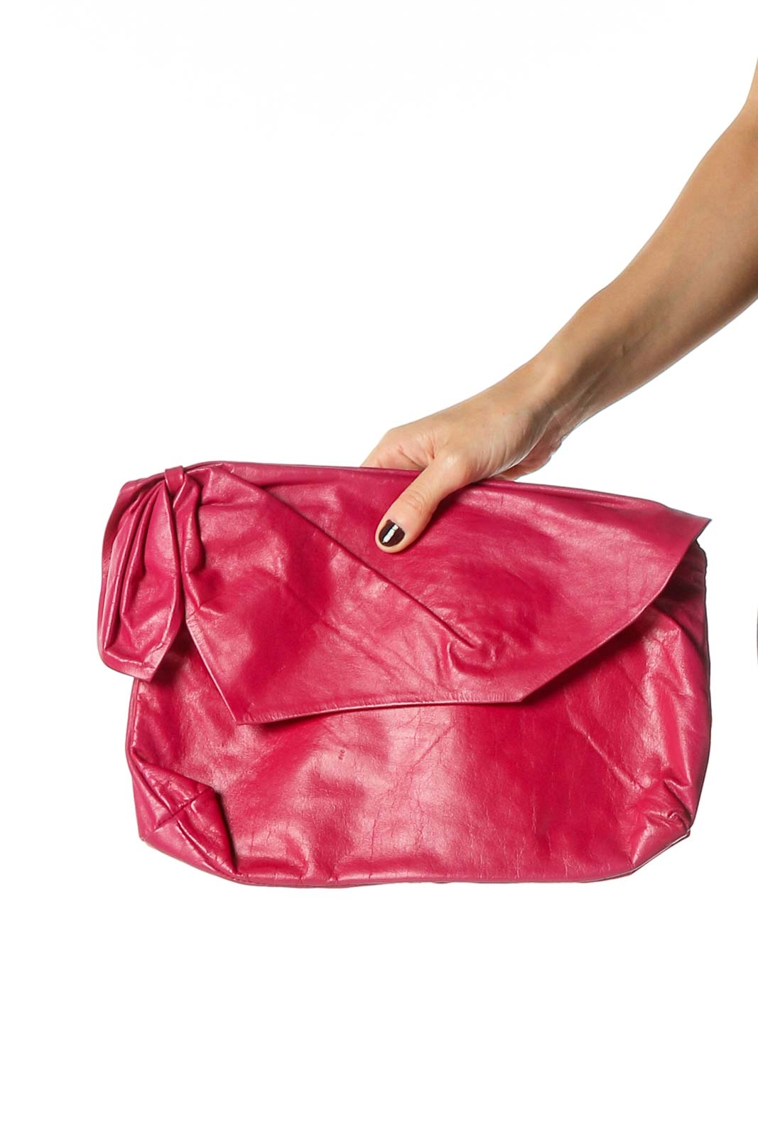 Pink Clutch Bag Front