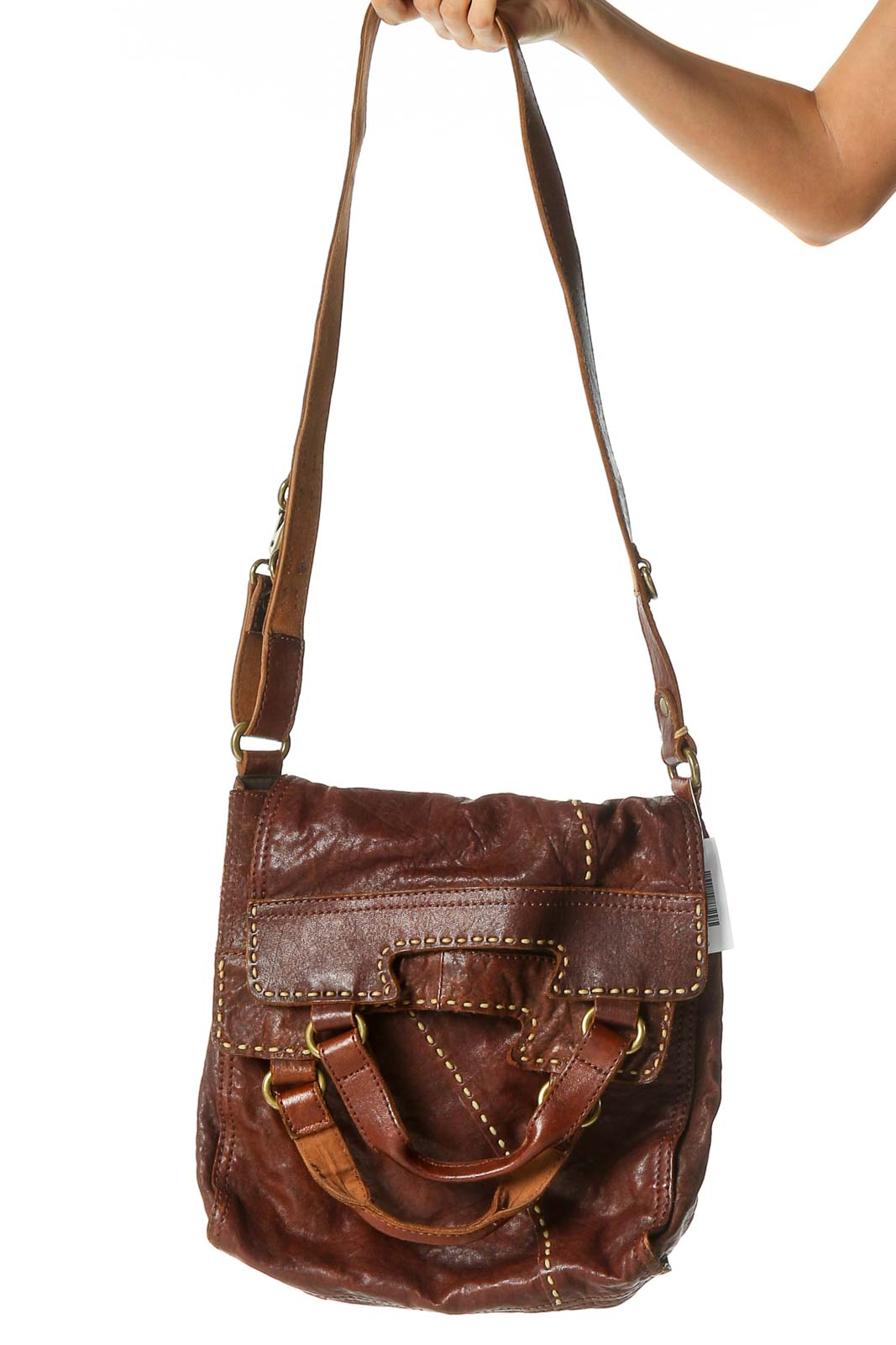 Brown Messenger Bag Front
