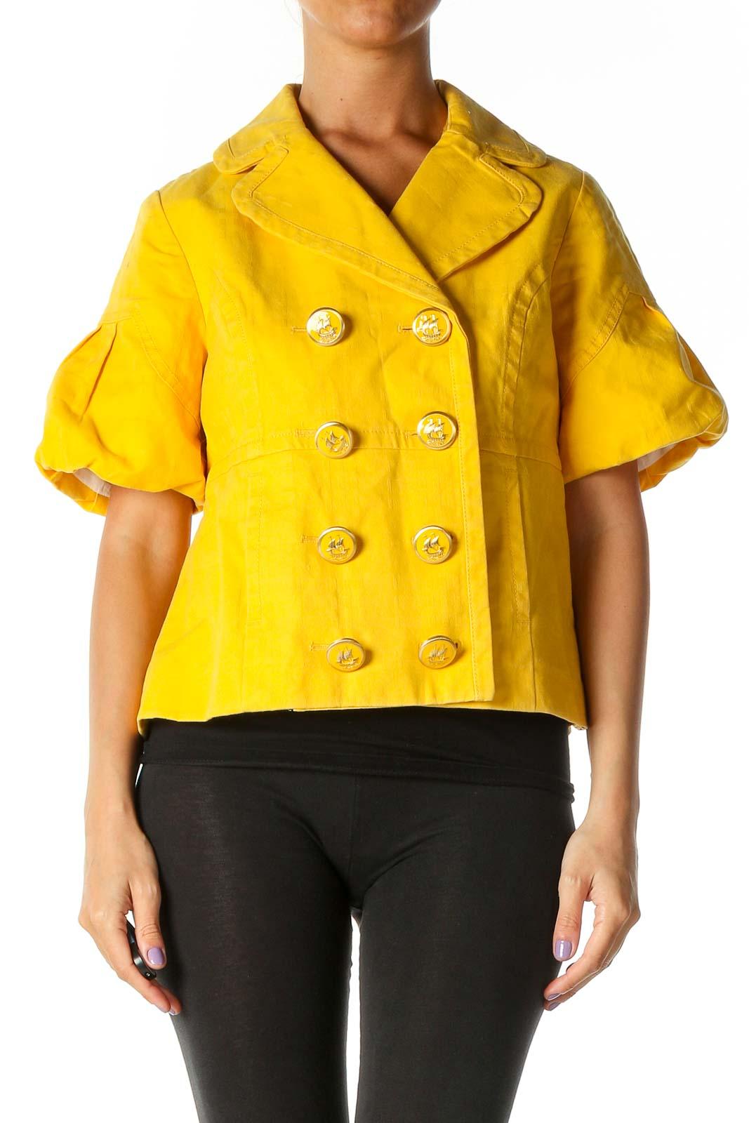 Yellow Peacoat Front