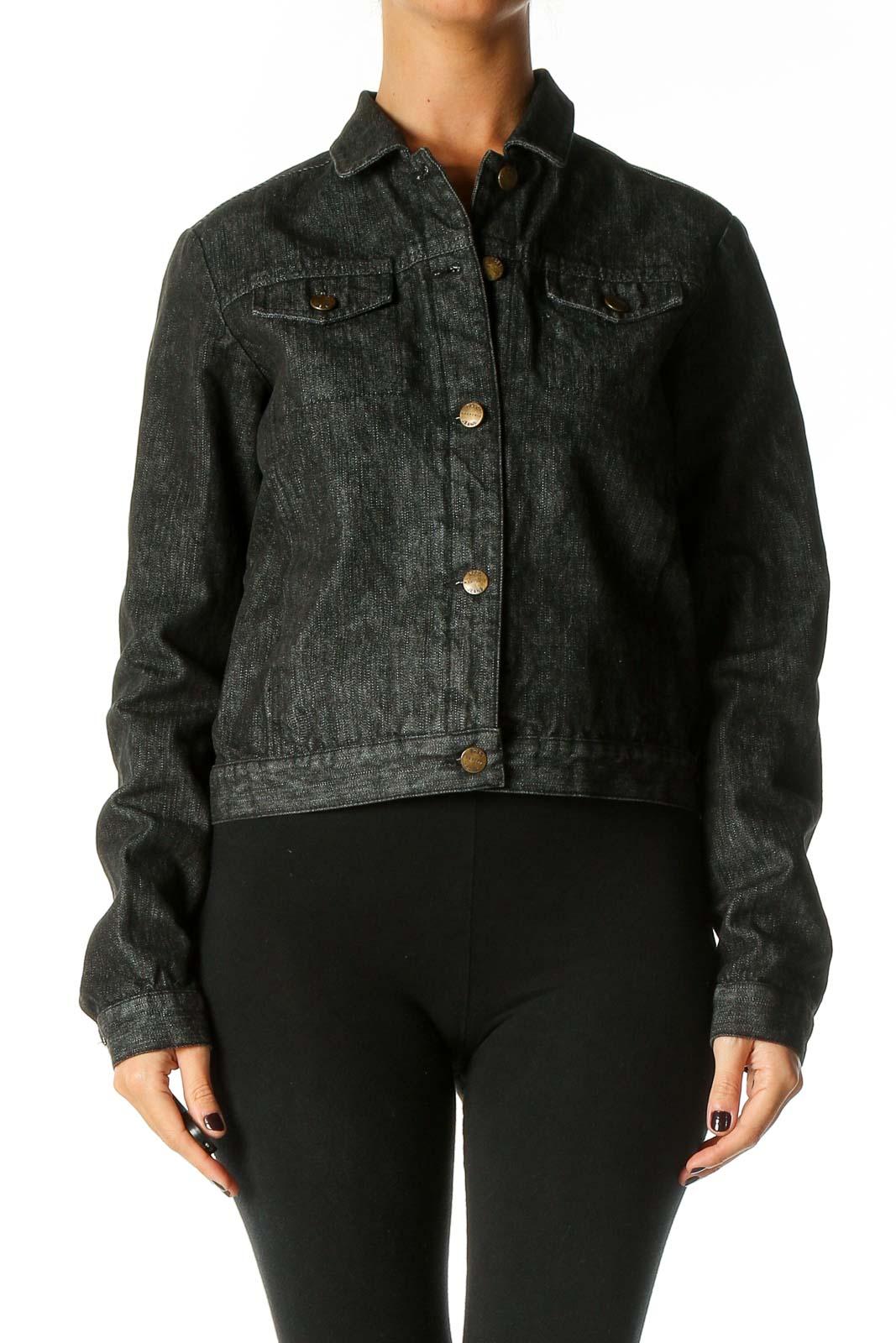 Black Denim Jacket Front