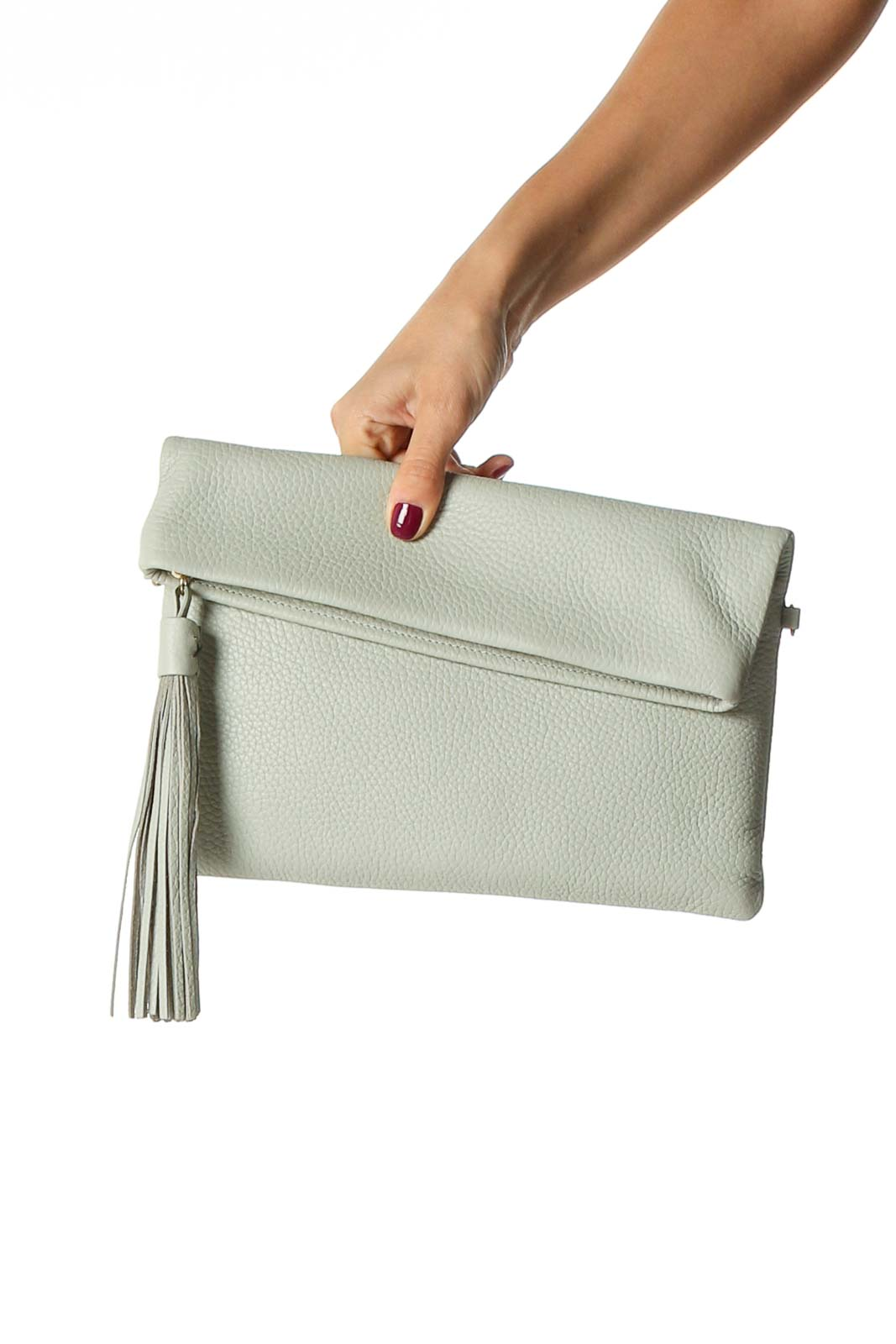 Gray Clutch Bag Front