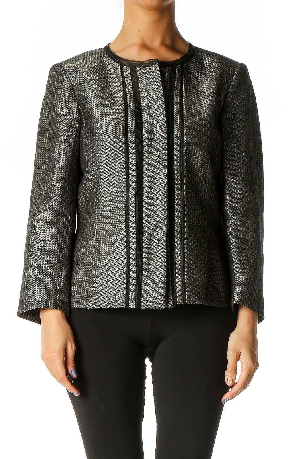 Gray Blazer Front