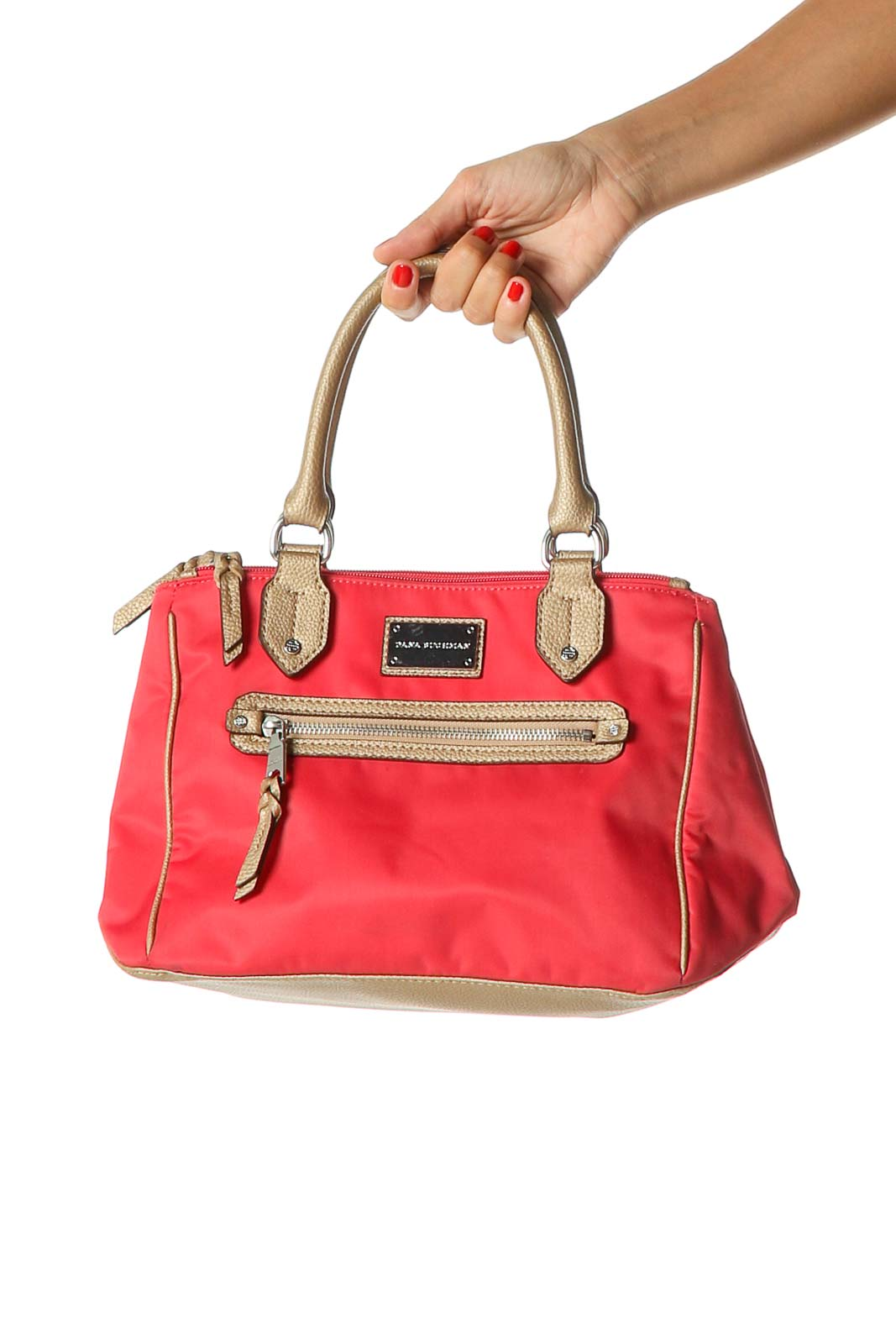 Red Satchel Bag Front
