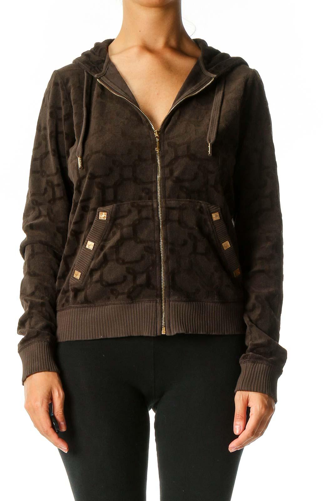 Brown Windbreaker Jacket Front