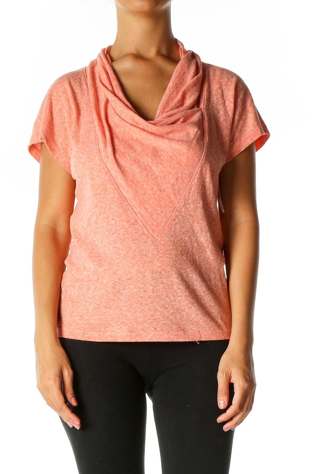 Orange Solid Activewear T-Shirt Front