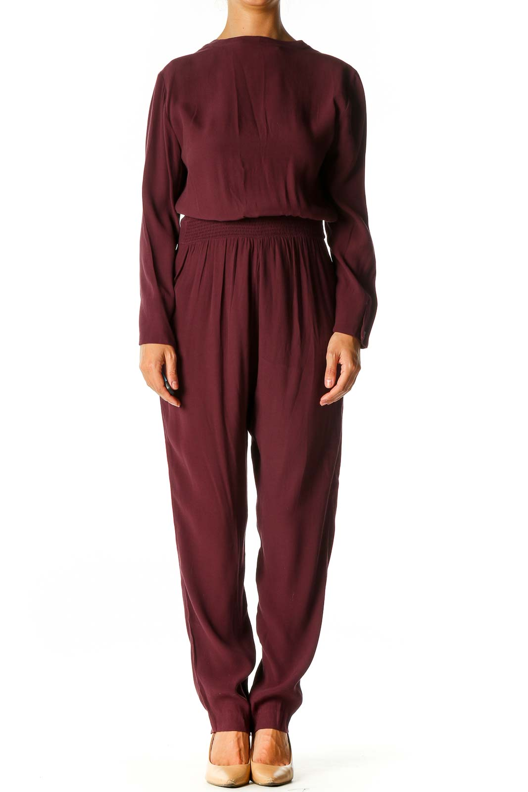 Red Chic Jumpsuit Front