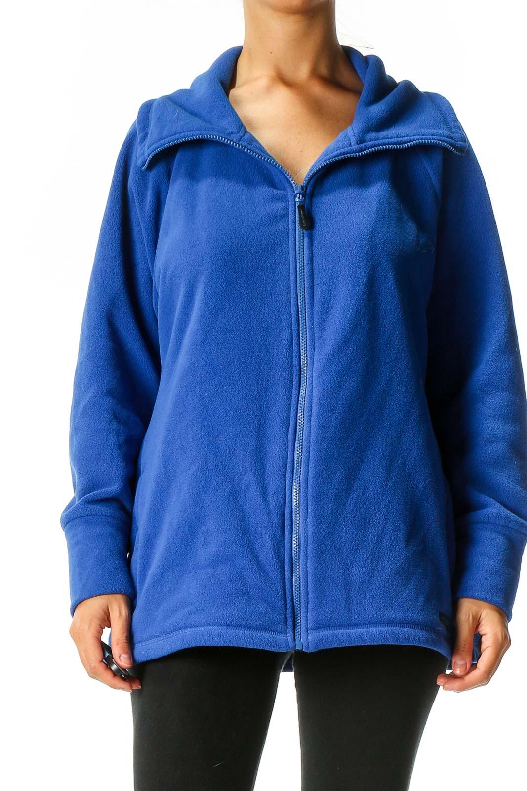 Blue Windbreaker Jacket Front