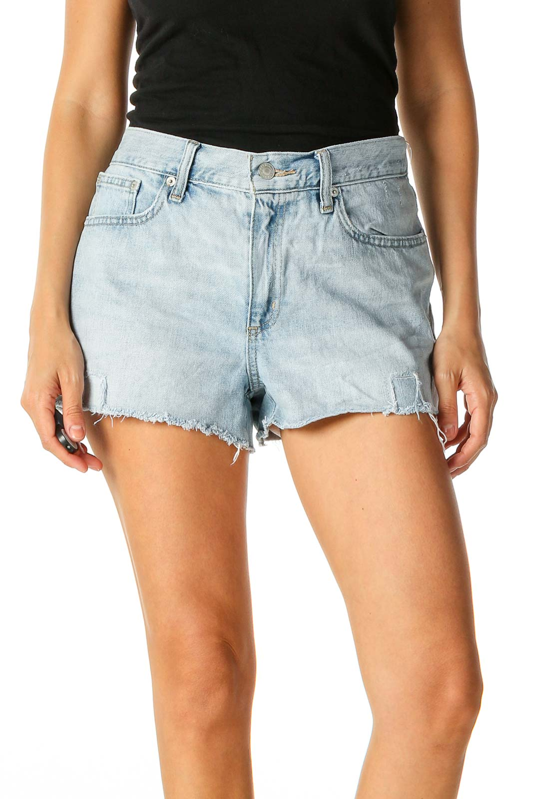 Beige Casual Shorts Front