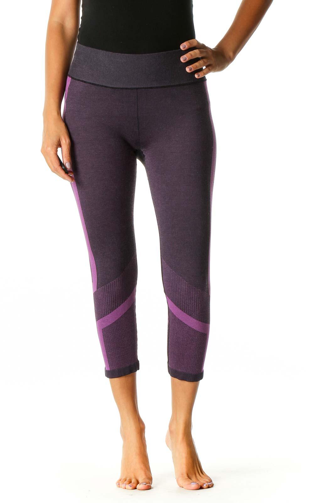 Purple Activewear Capri Leggings Front