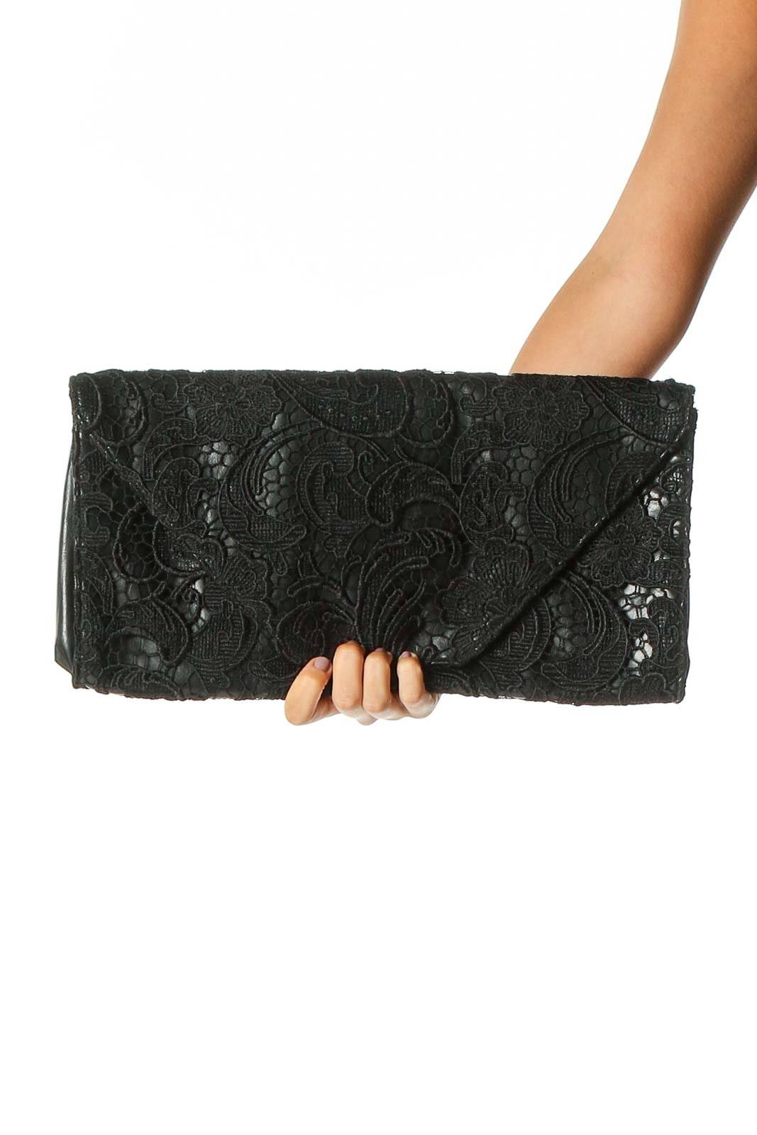 Black Clutch Bag Front