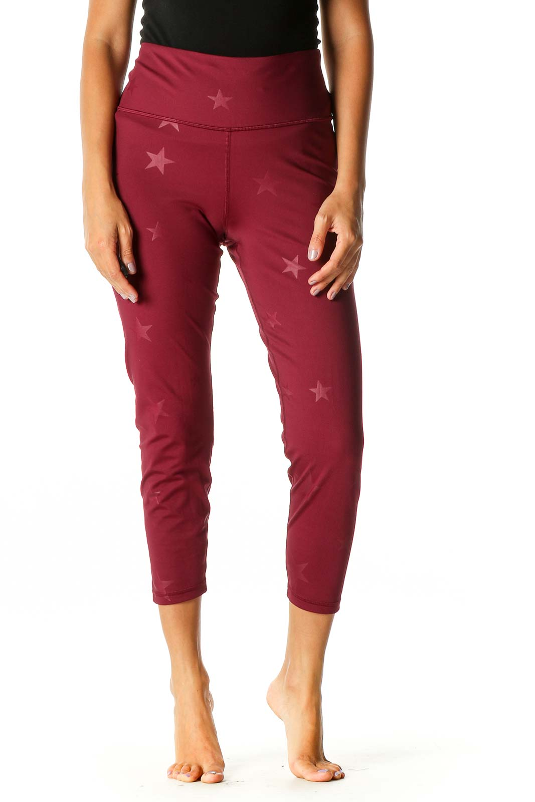Red Spots Objects Activewear Leggings Front