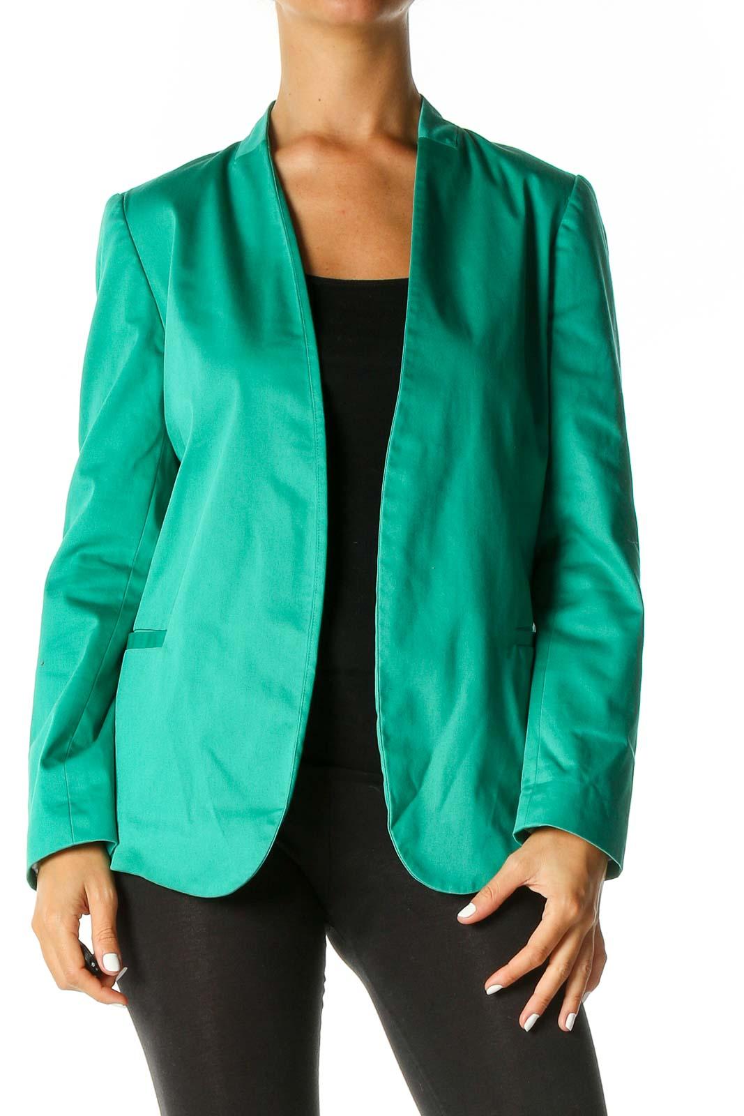 Green Blazer Front