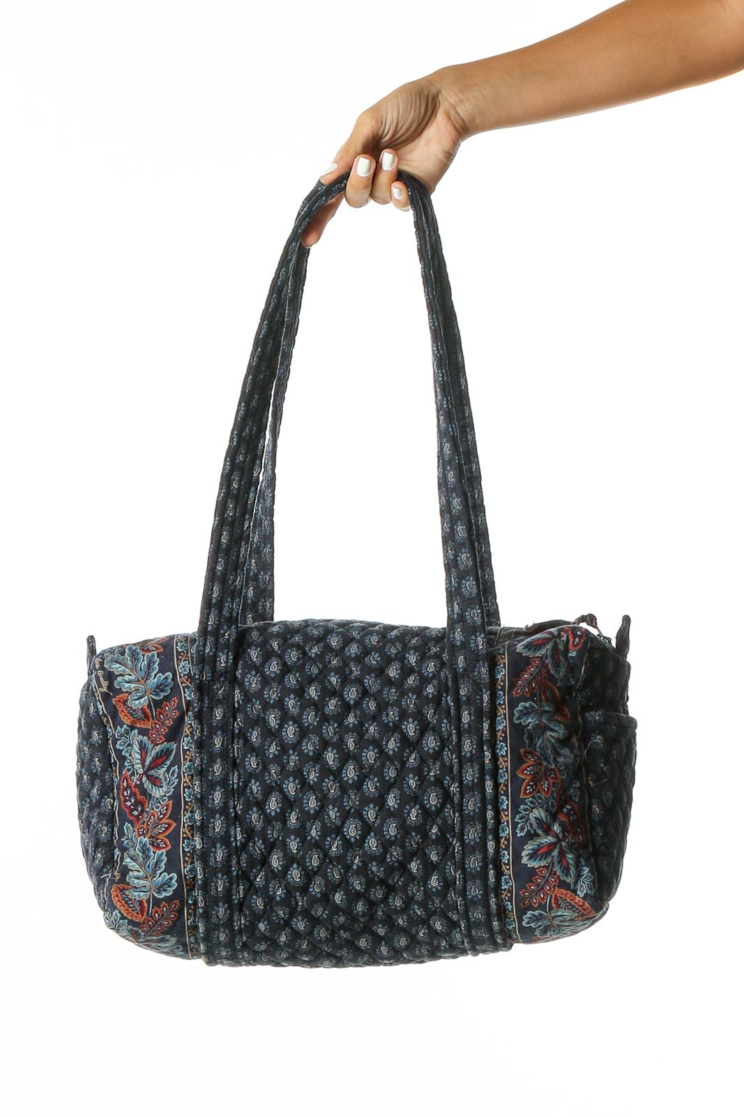 Blue Zippered Bag Front