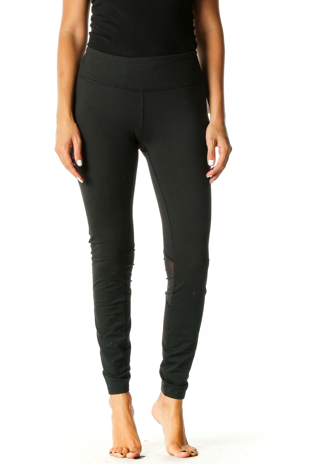 Black Activewear Leggings Front