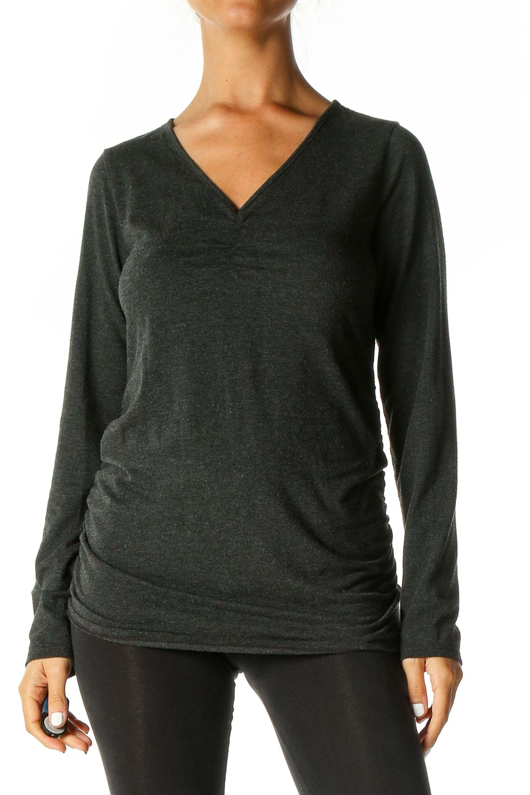 Gray All Day Wear Top Front