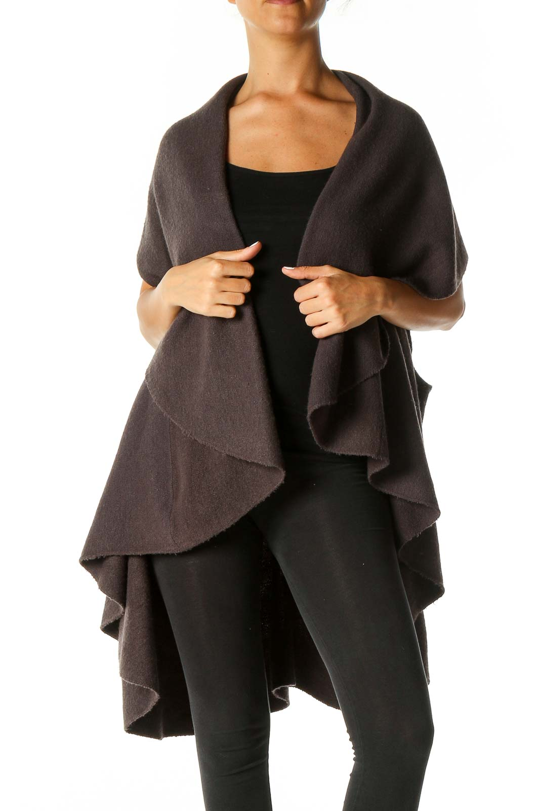 Brown Cardigan Front