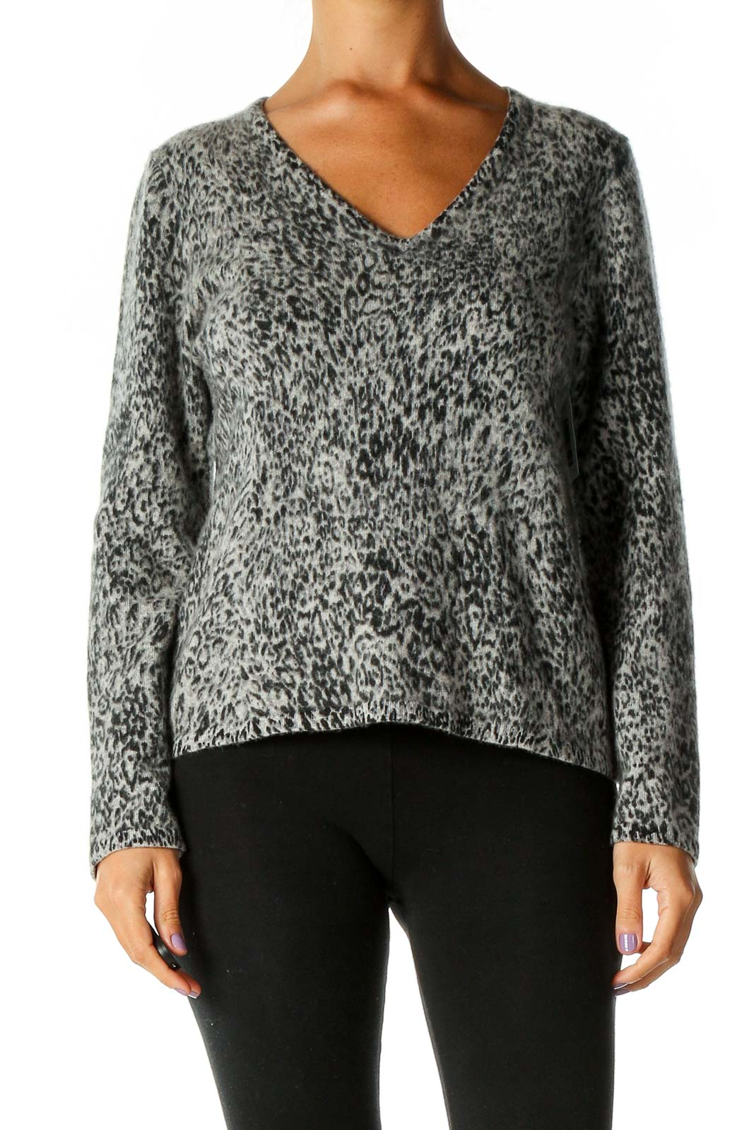 Gray Casual Sweater Front