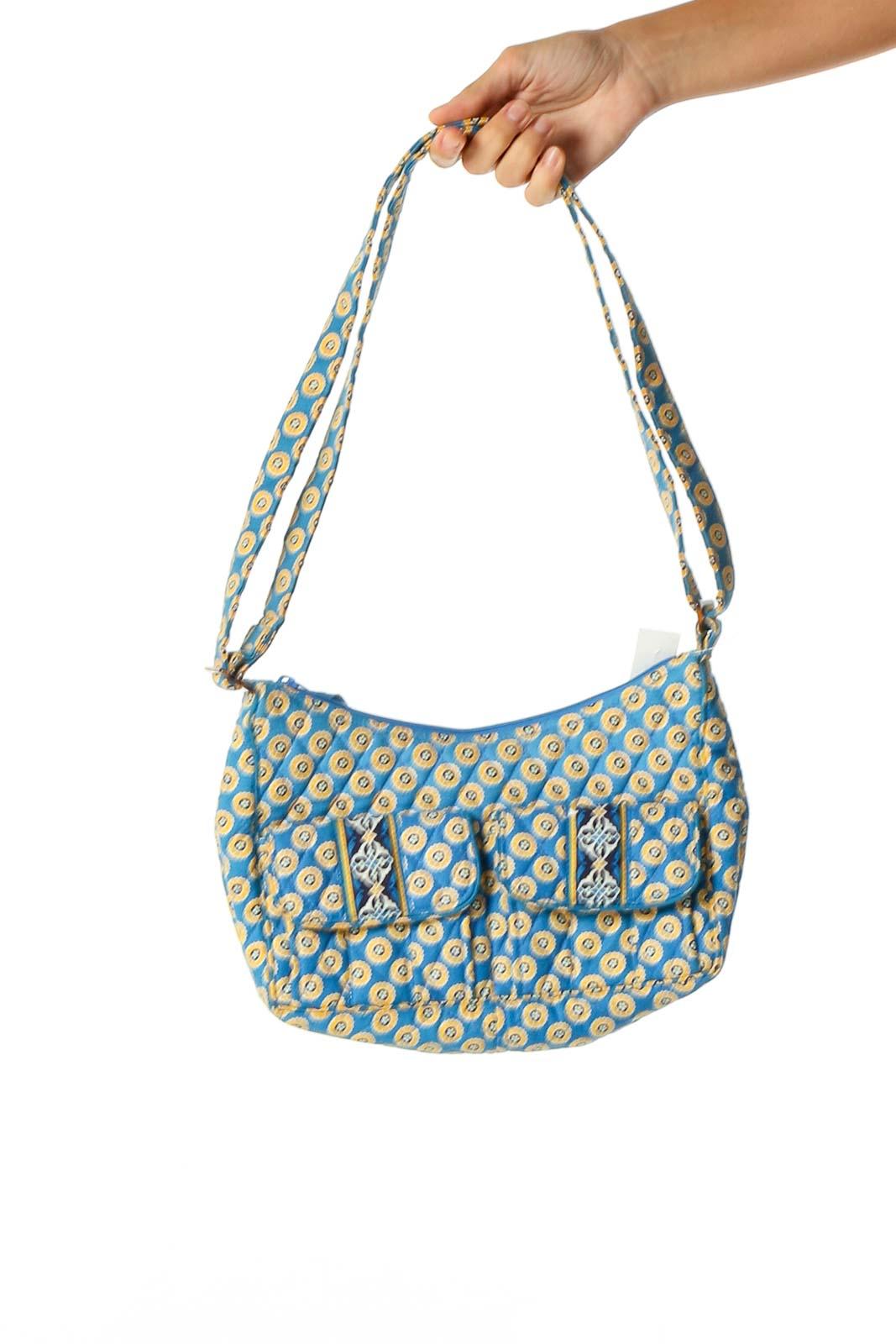 Blue Shoulder Bag Front