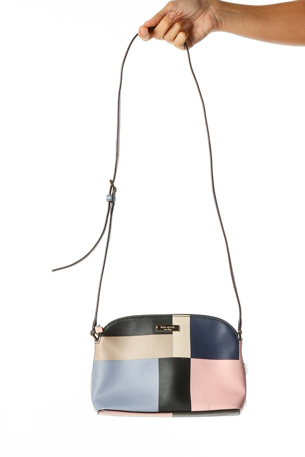 Pink Colorblock Crossbody Bag Front