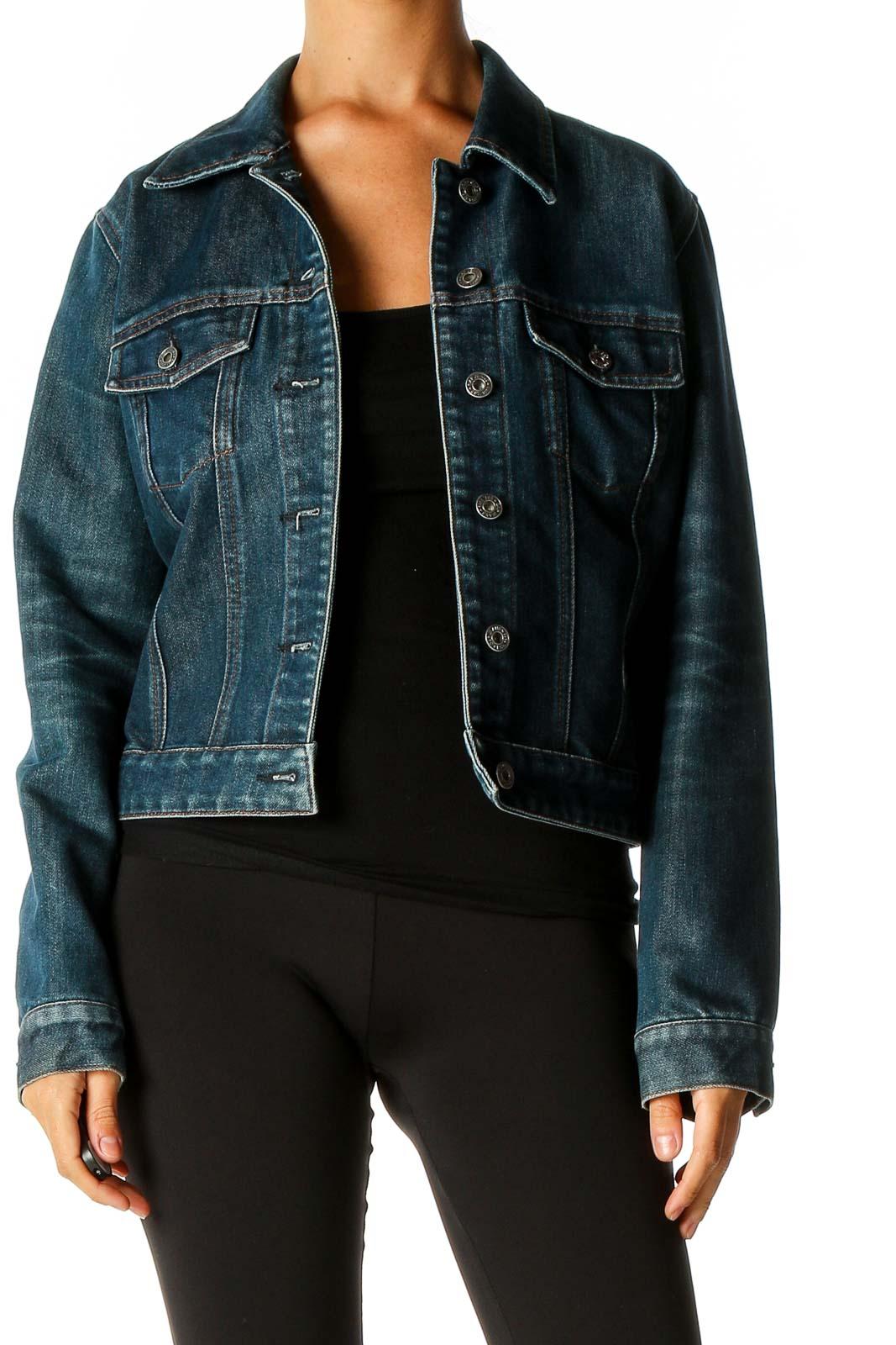 Blue Denim Jacket Front