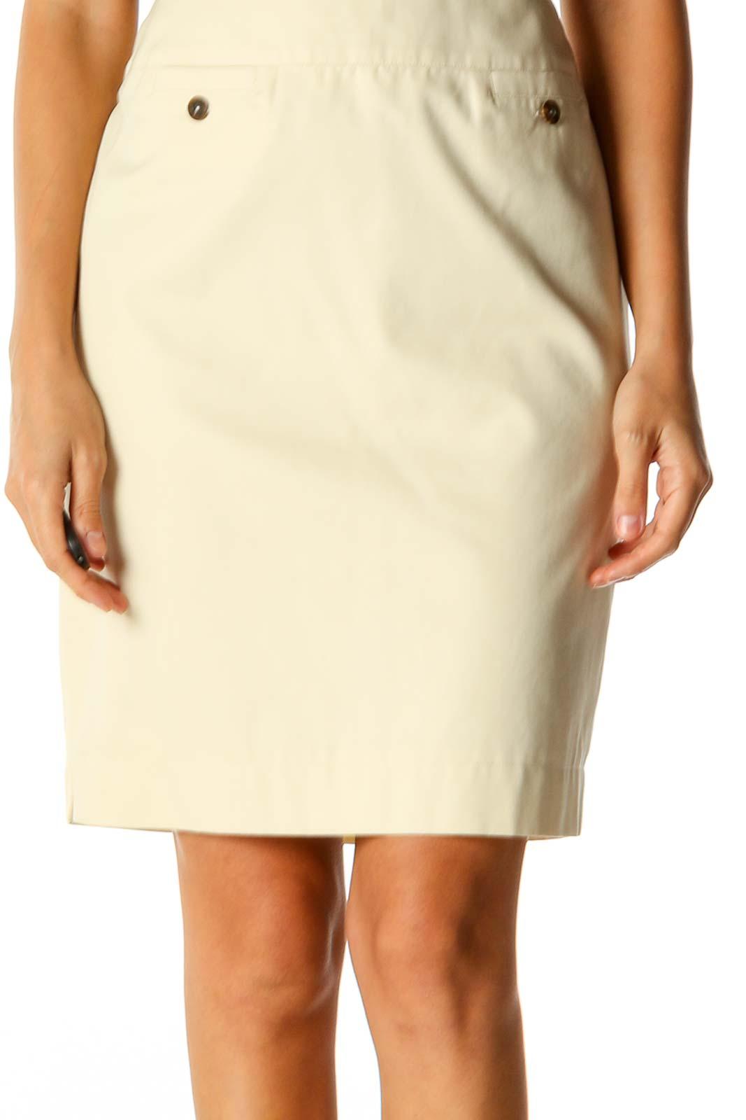 Yellow Brunch Pencil Skirt Front