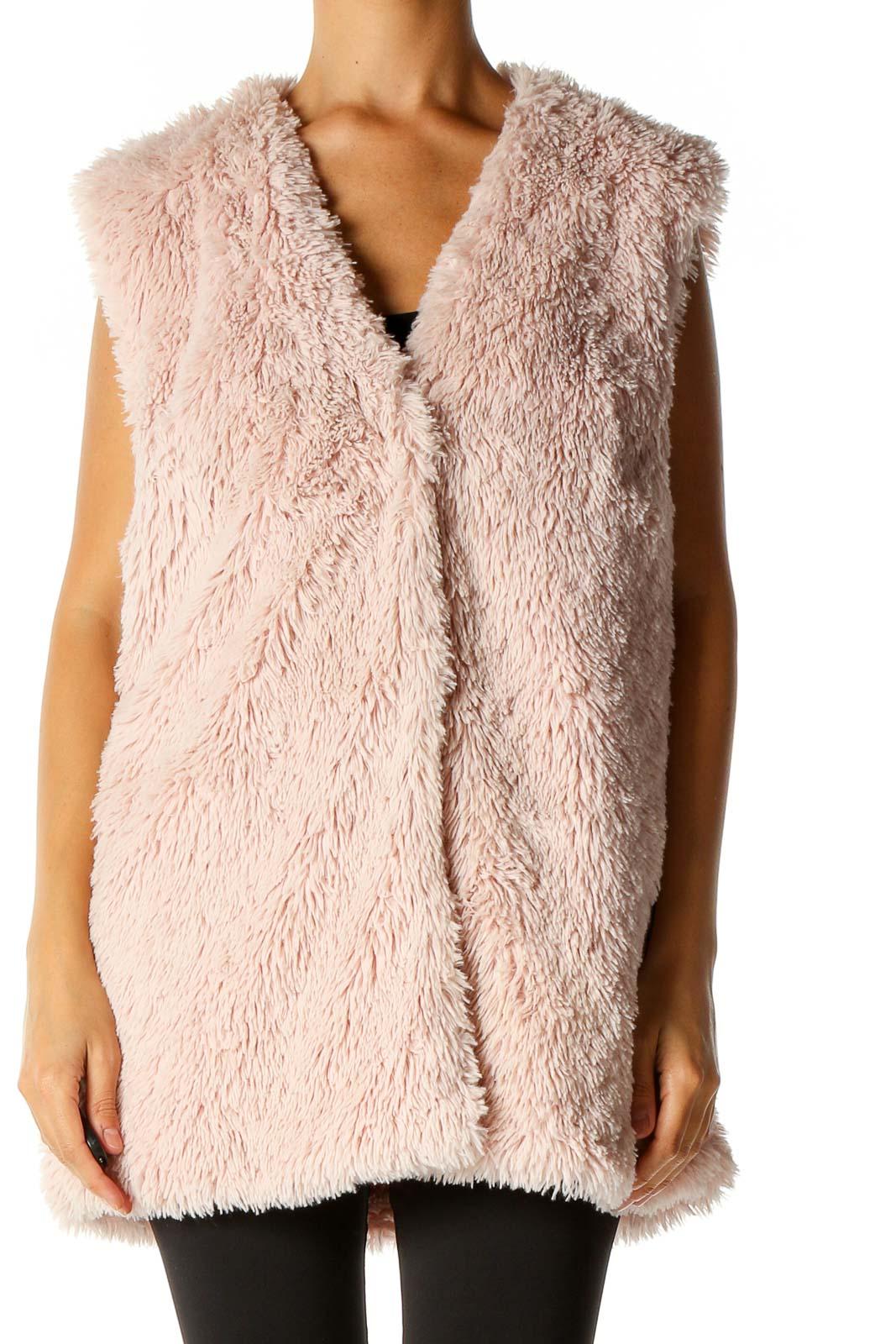 Pink Vest Jacket Front