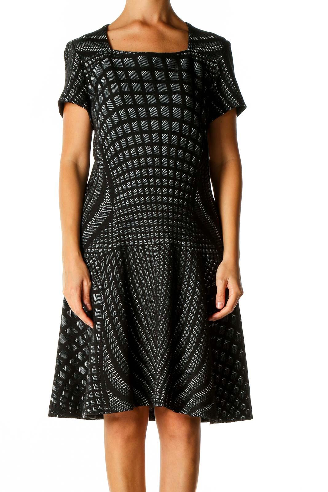 Black Classic A-Line Dress Front