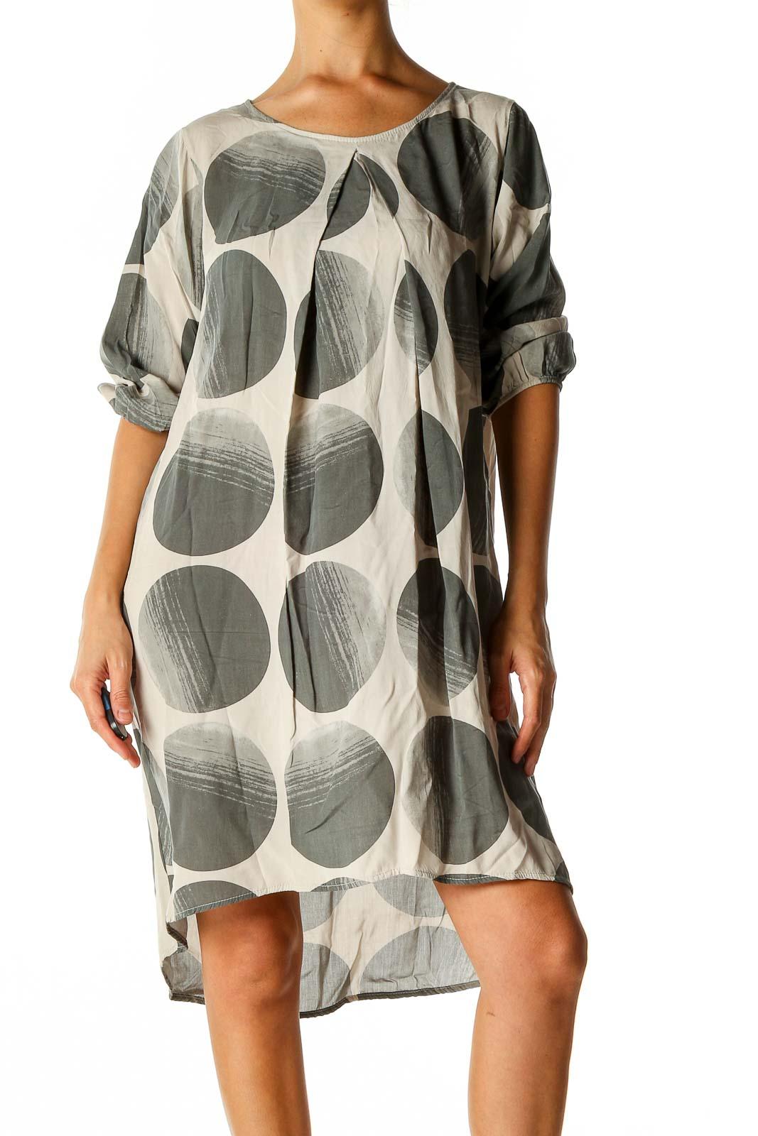 Gray Shift Dress Front