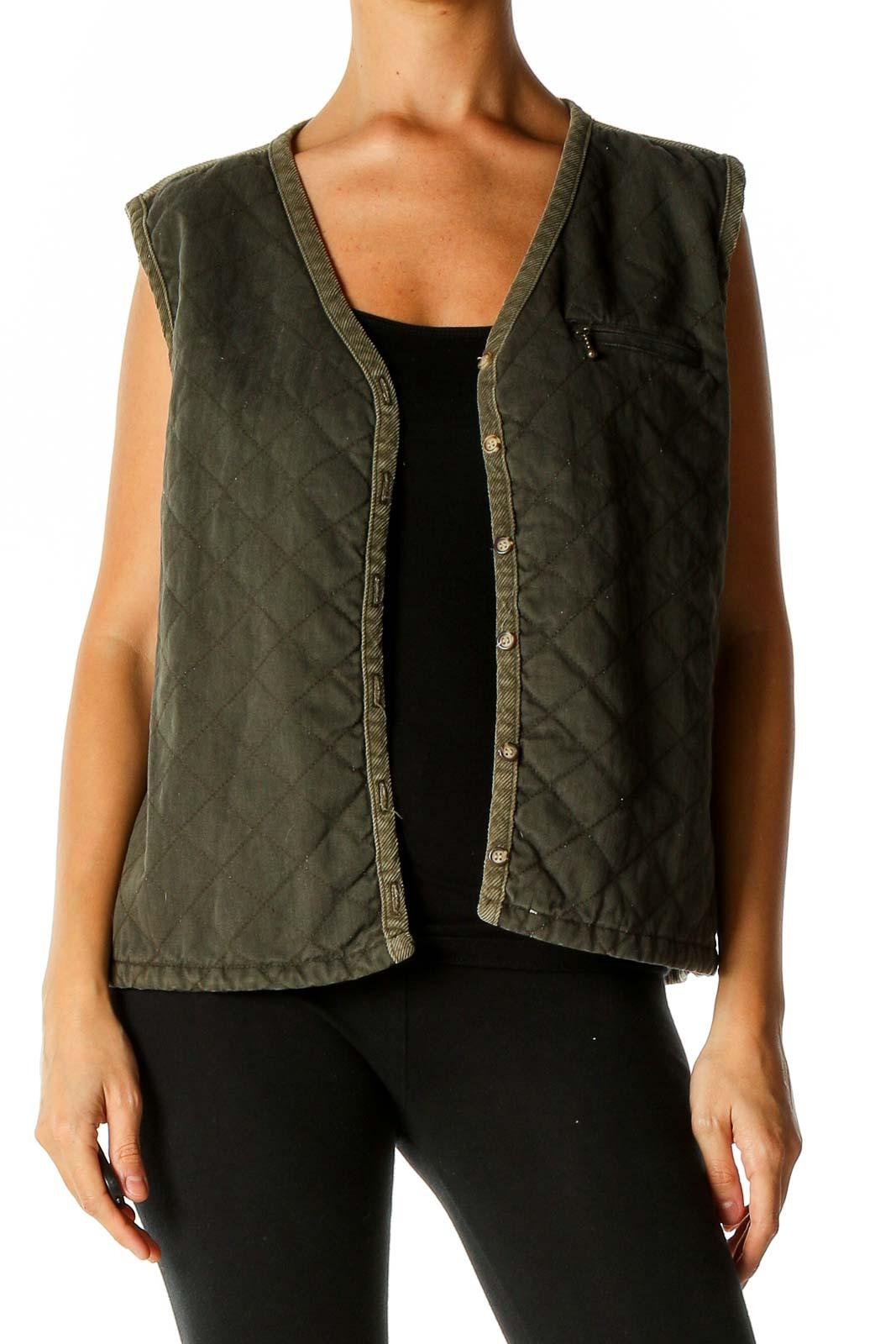 Green Vest Jacket Front