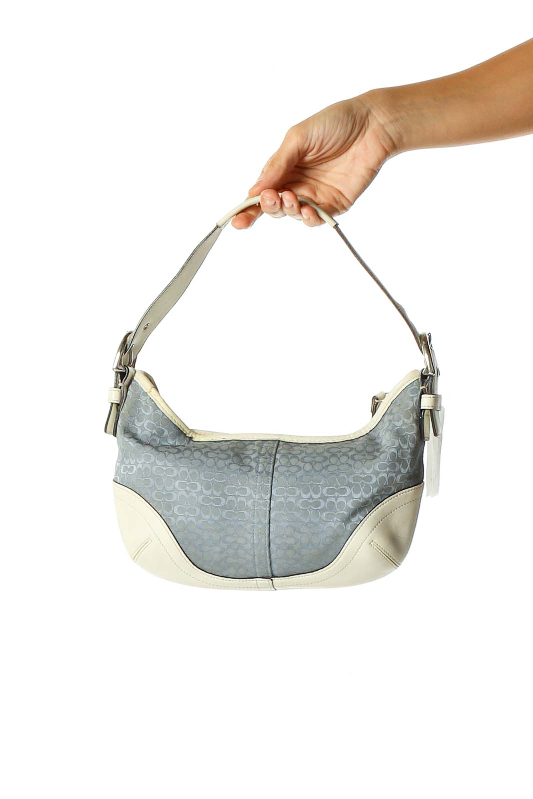 Gray Shoulder Bag Front