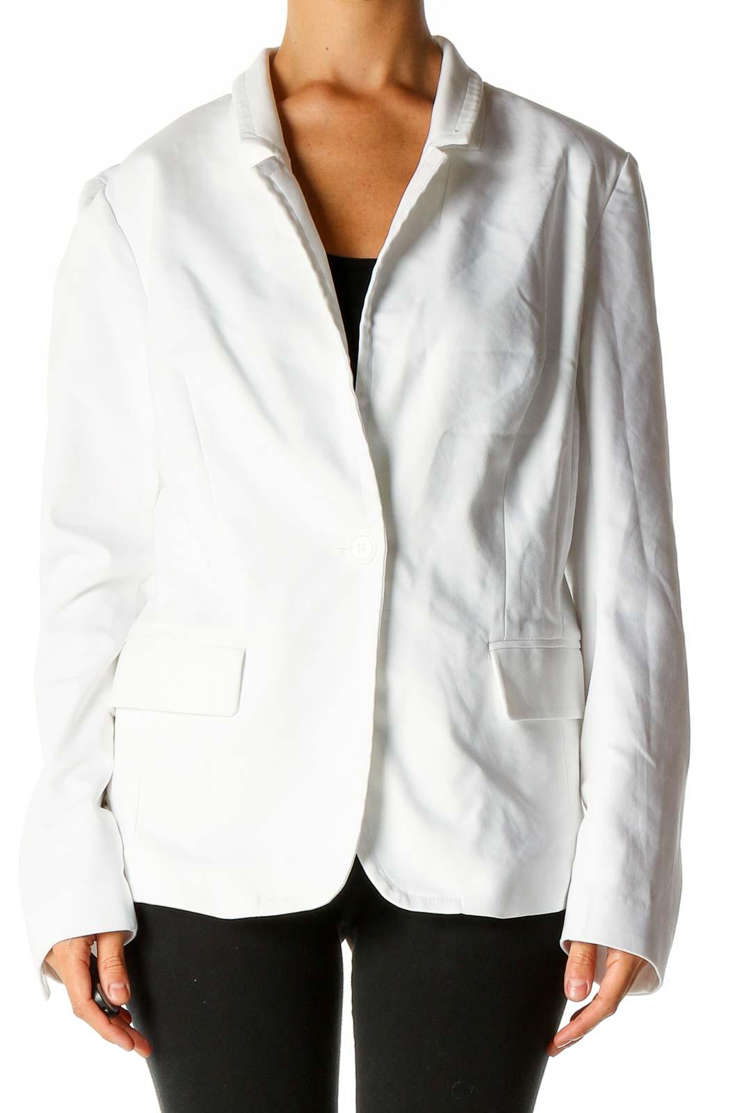 White Blazer Front