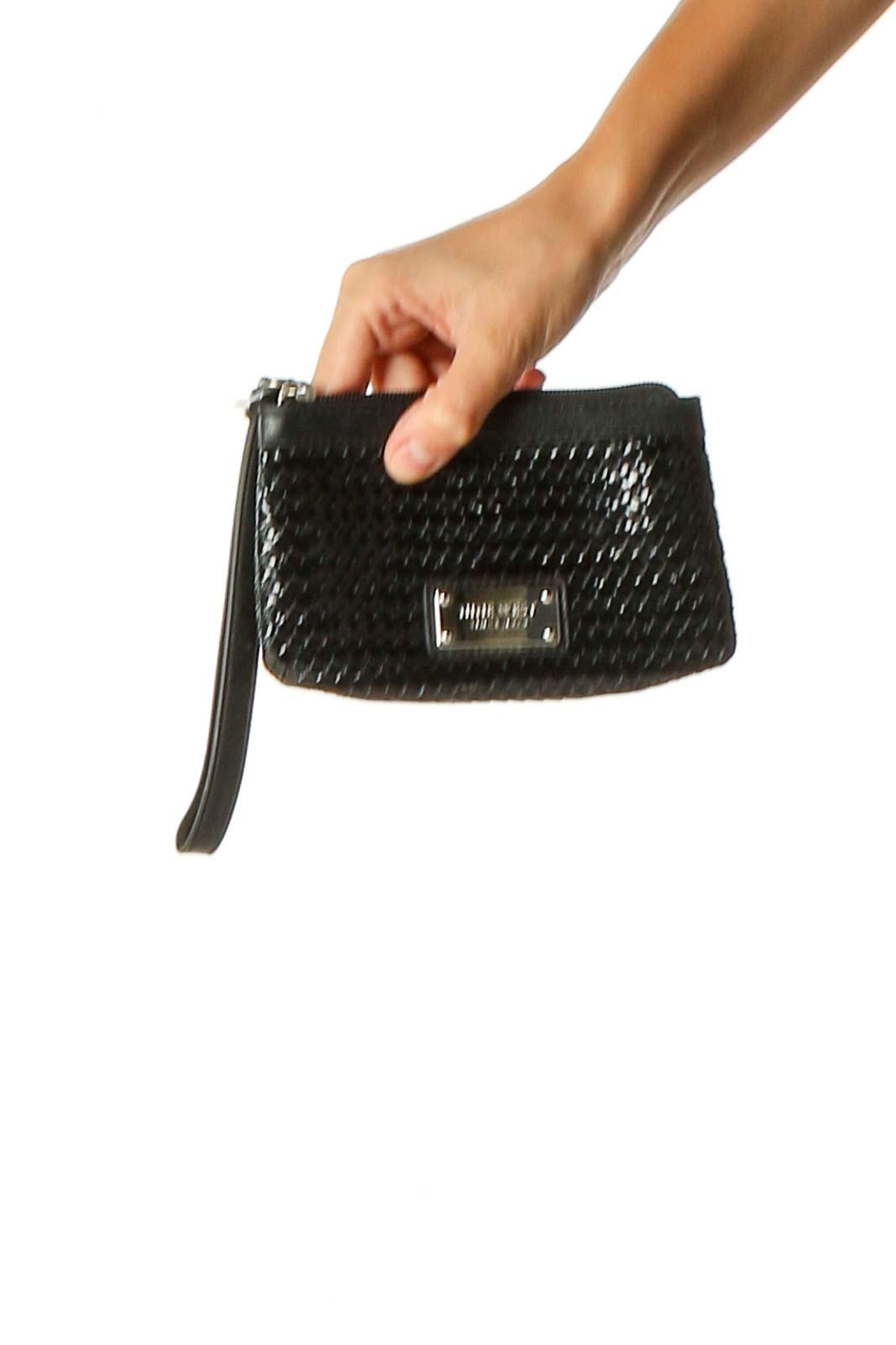 Black Wristlet Bag Front