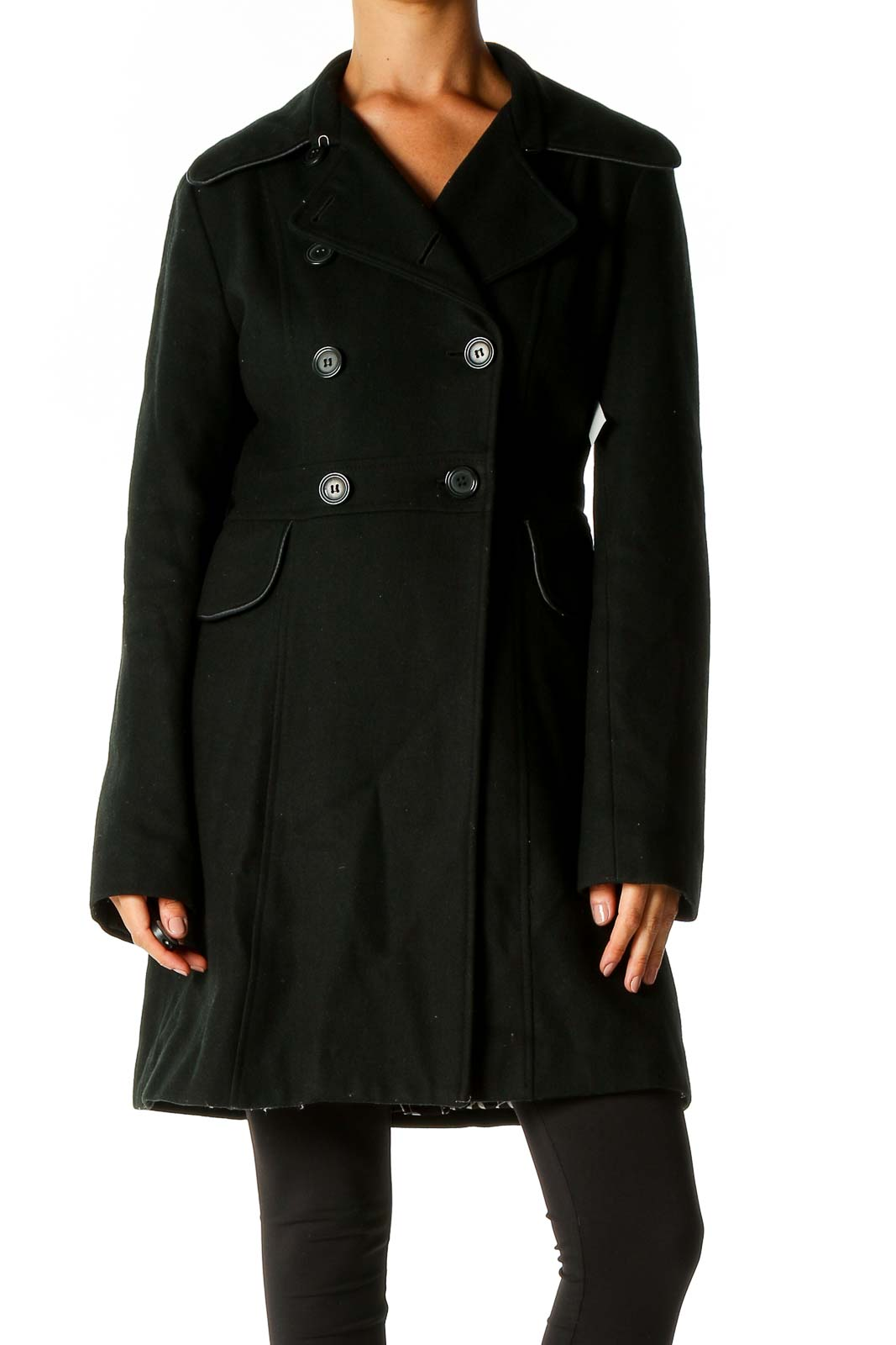 Black Peacoat Front