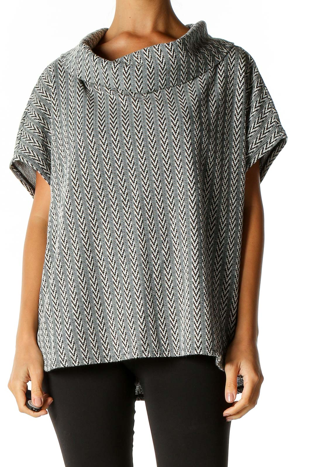 Gray Bohemian Sweater Front