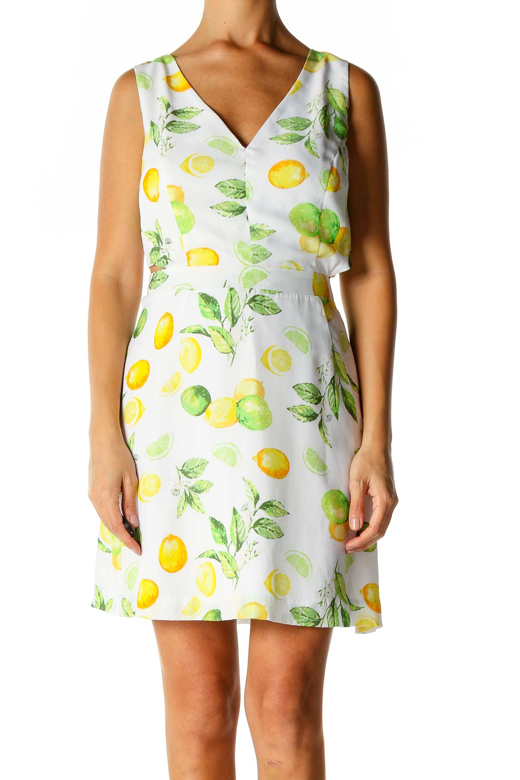 White Spot Objects Day A-Line Dress Front