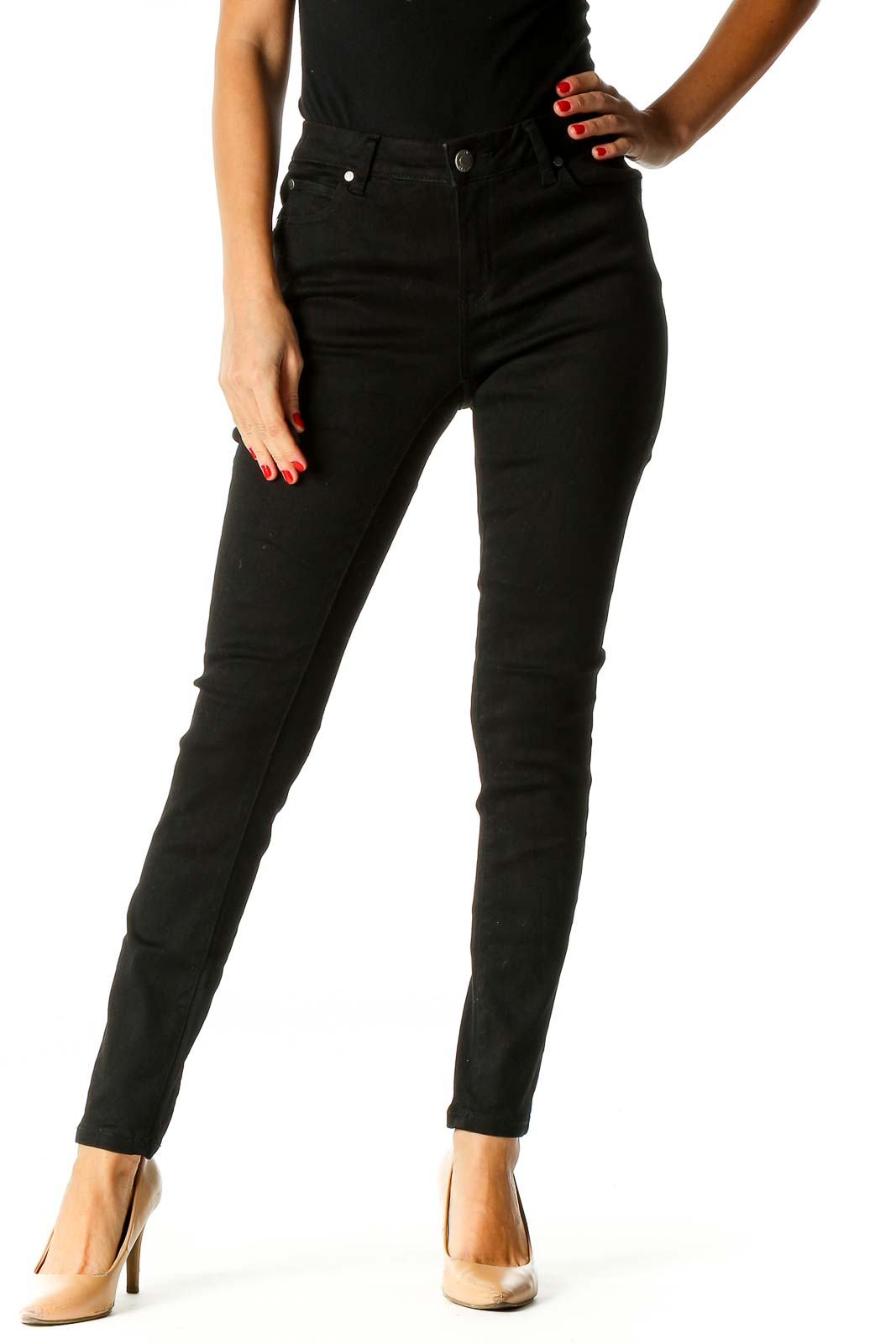 Black Skinny Jeans Front