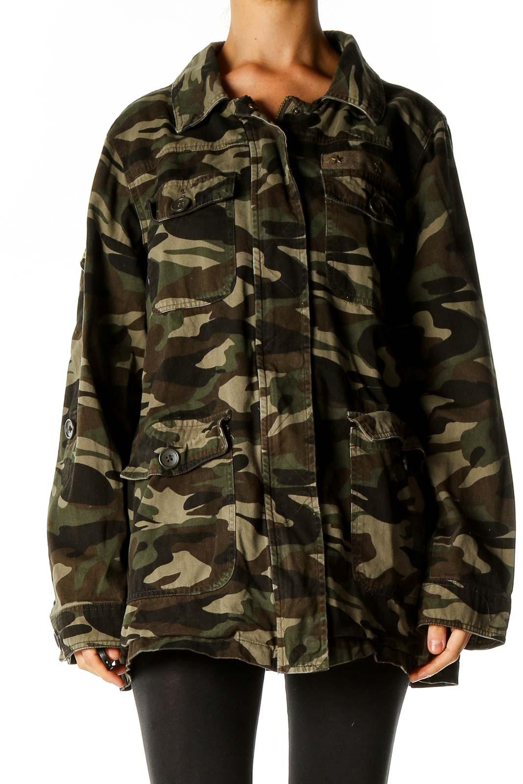 Black Military Jacket Front