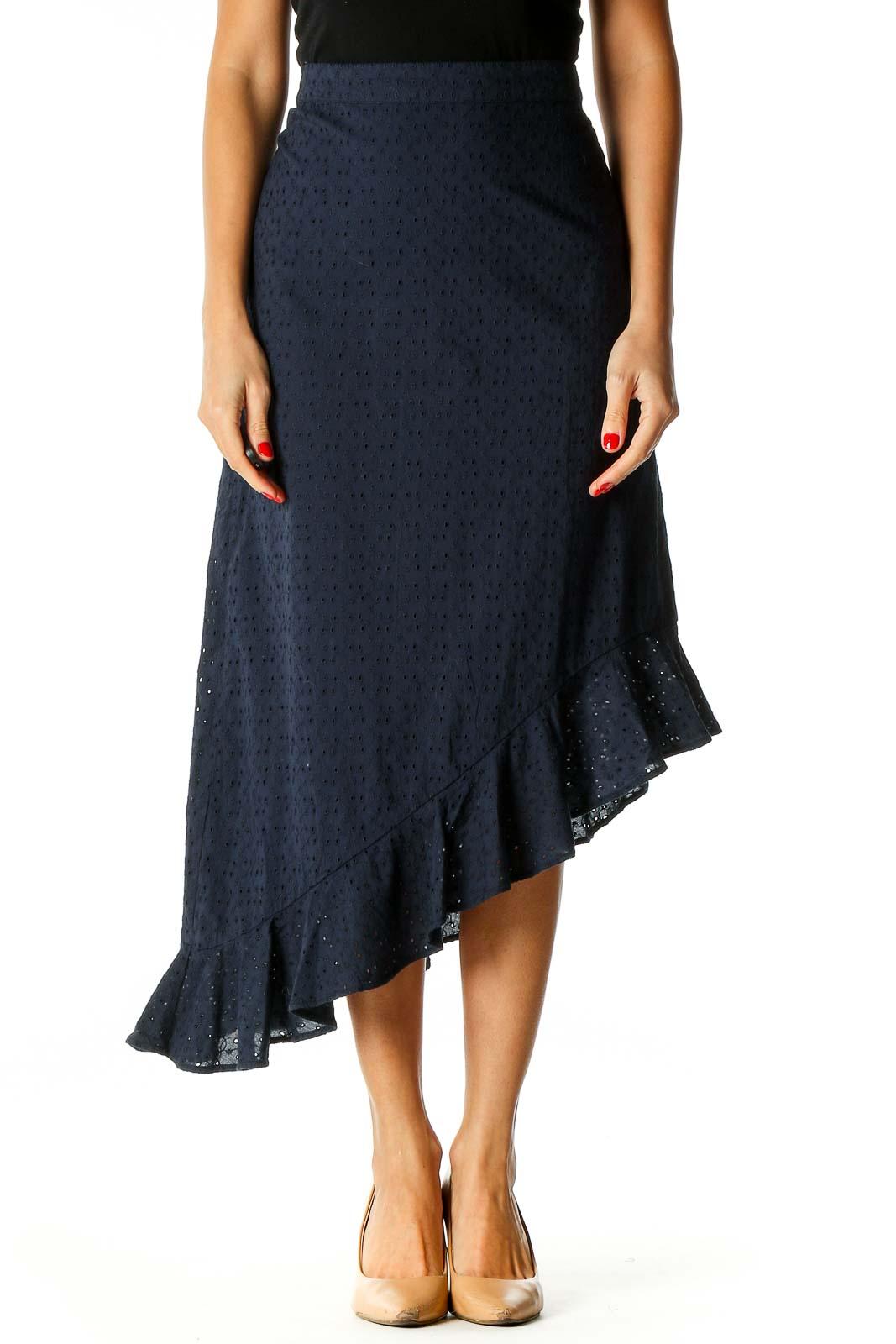 Blue Brunch A-Line Skirt Front