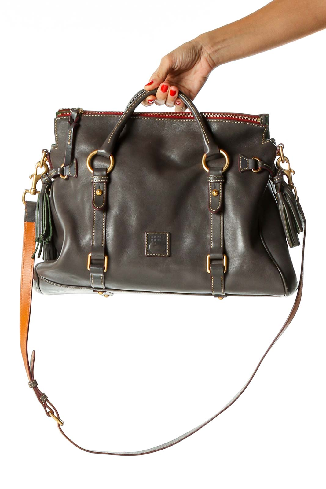 Brown Satchel Bag Front