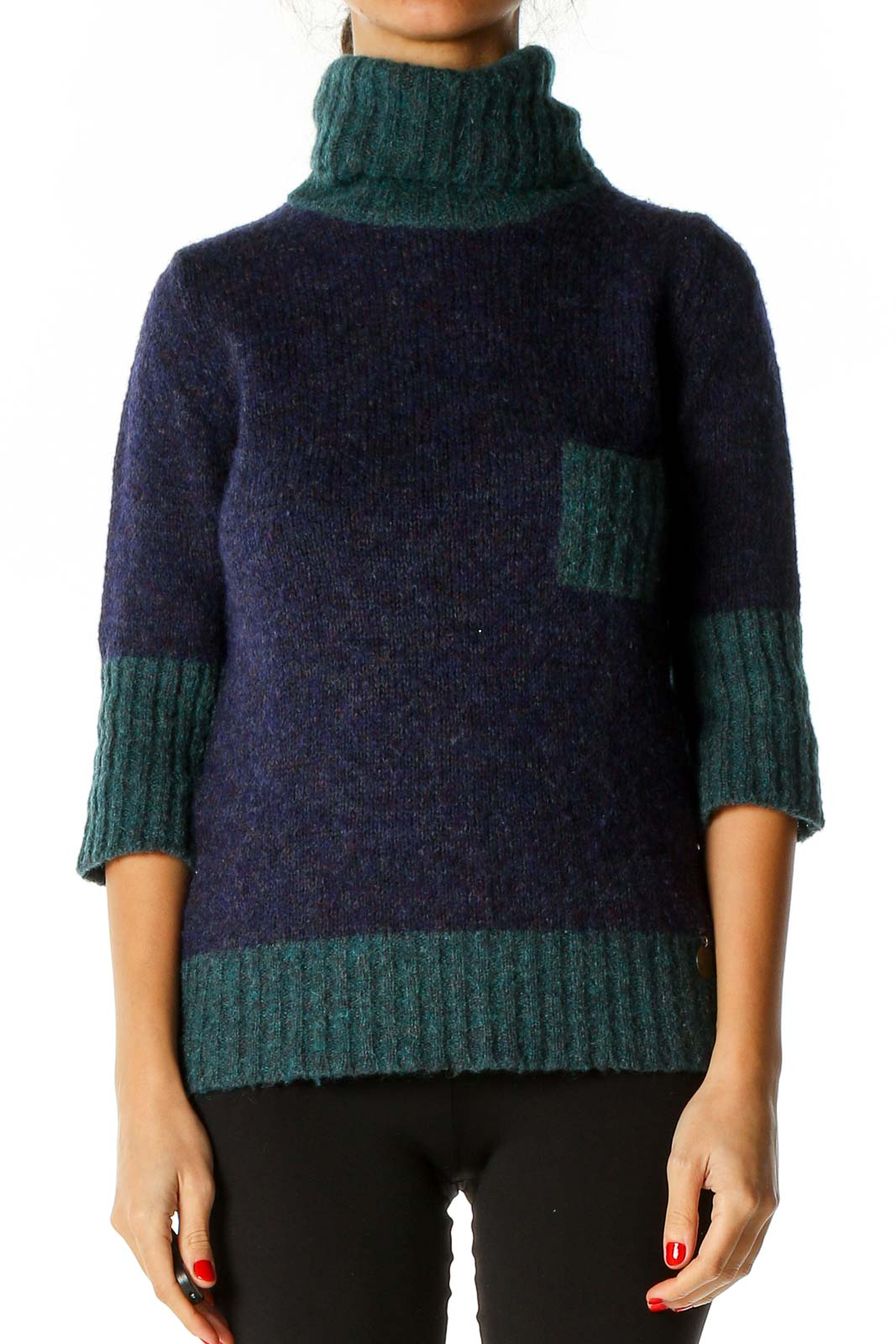 Blue All Day Wear Sweater Front