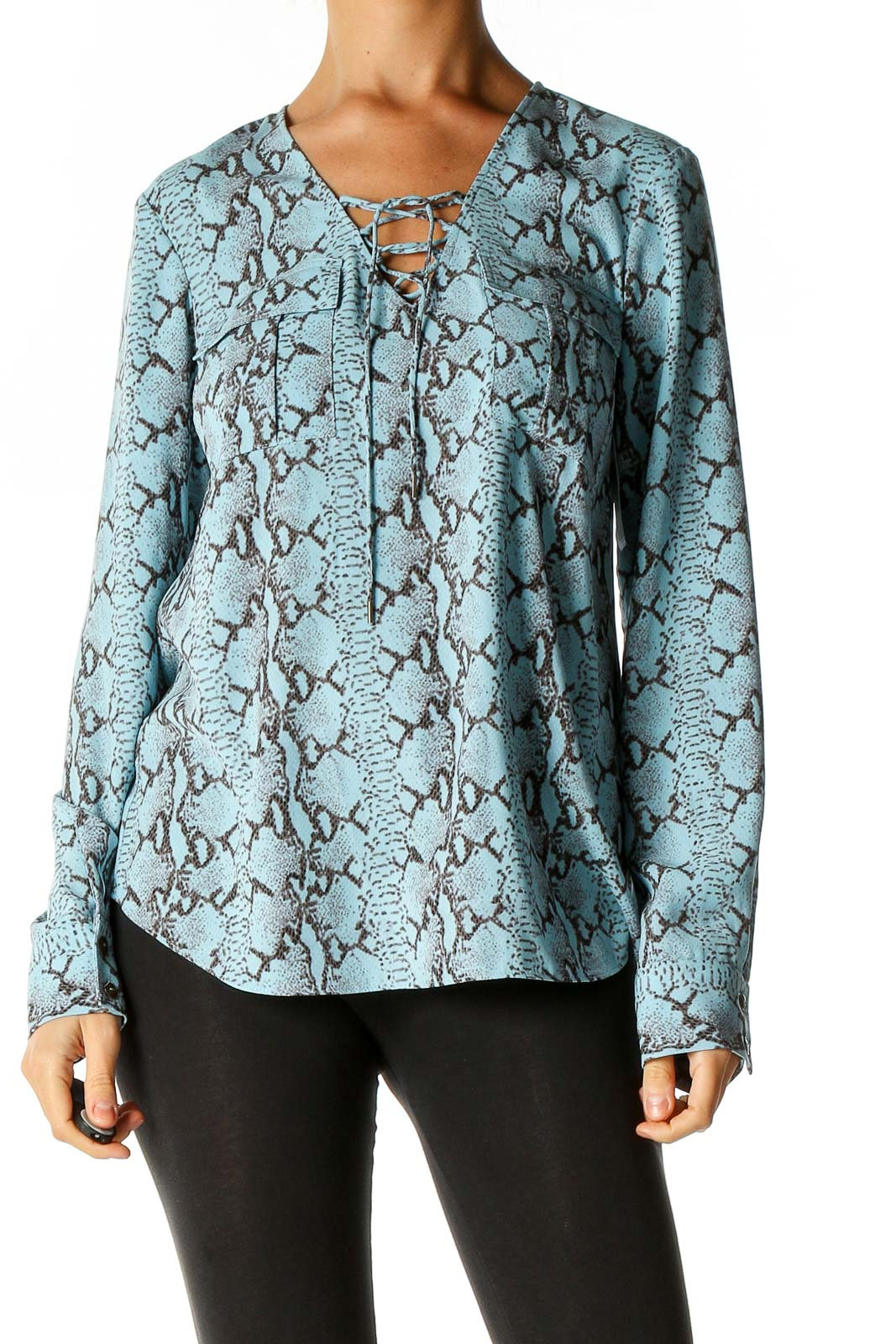Blue Brunch Blouse Front
