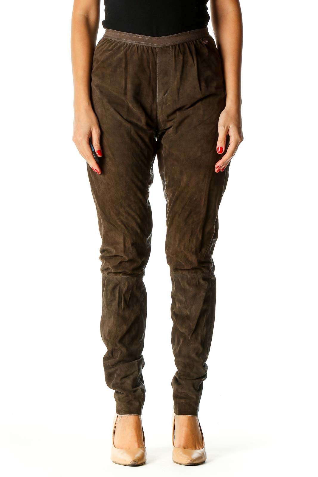 Brown Casual Cargos Pants Front