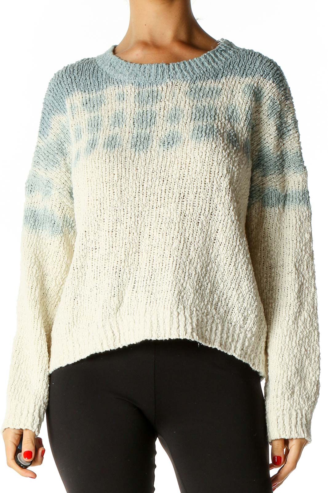 Beige All Day Wear Sweater Front