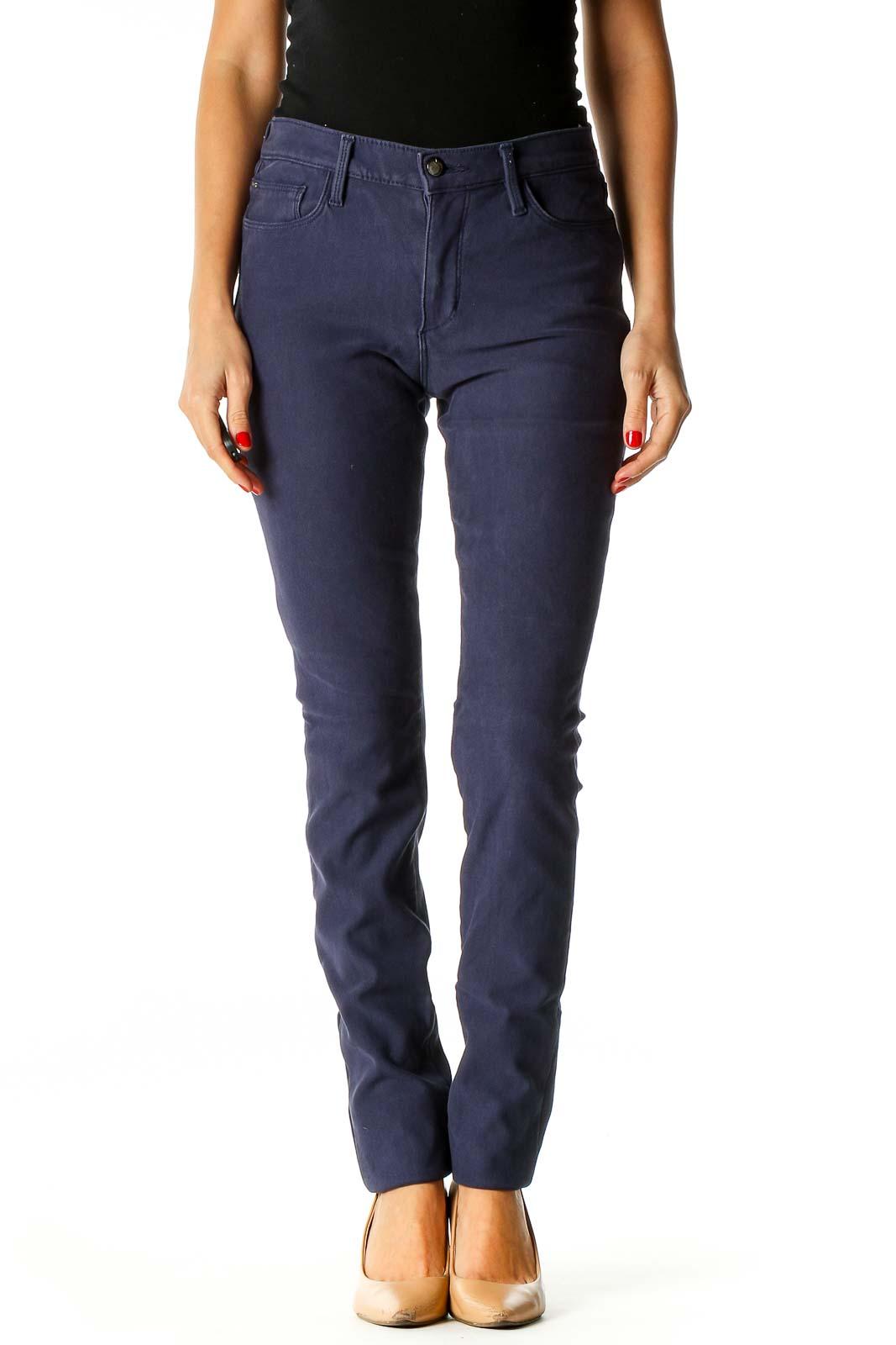 Purple Skinny Jeans Front
